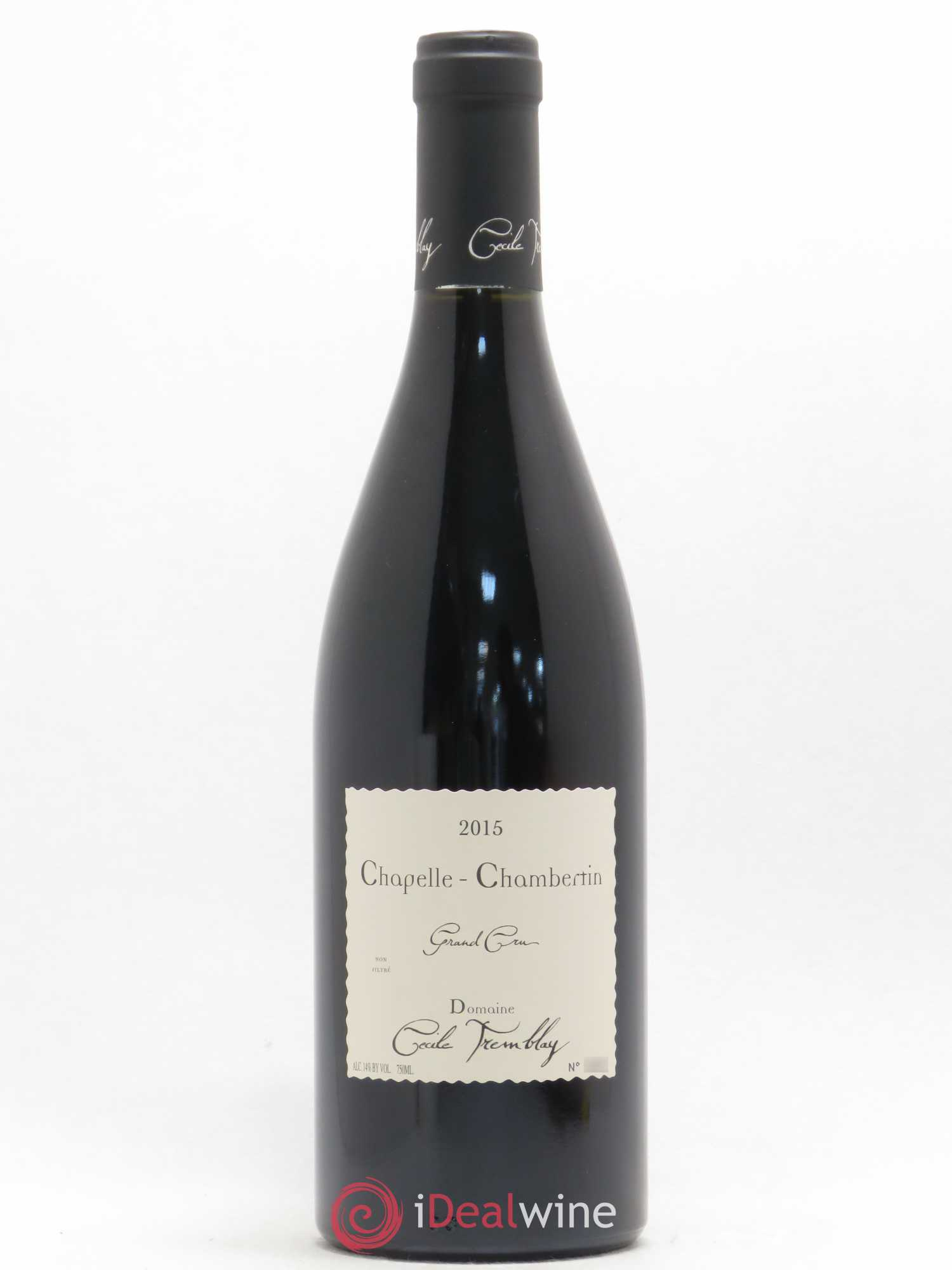 Chapelle-Chambertin Grand Cru Cécile Tremblay  2015 - Lot de 1 Bouteille