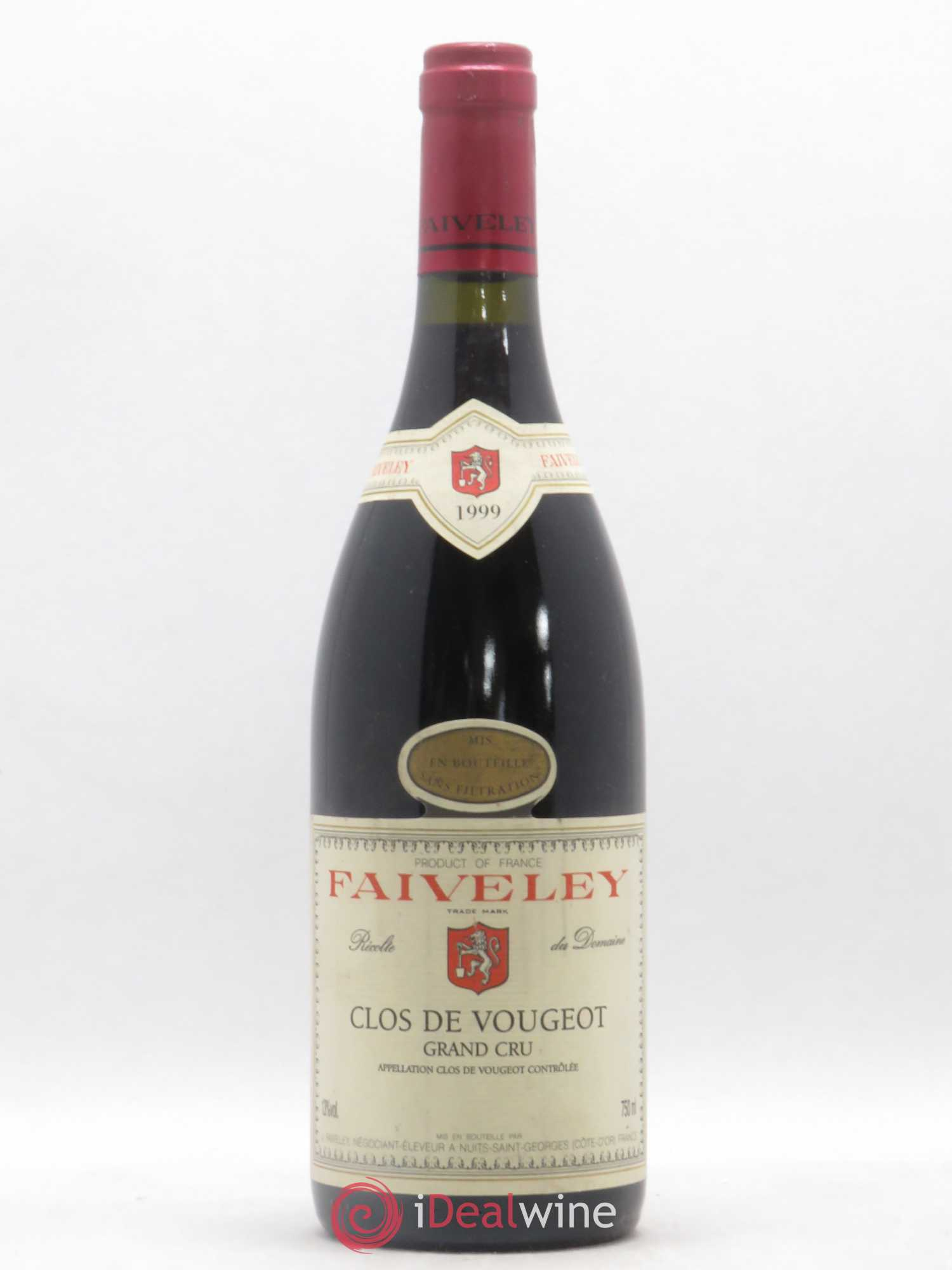 Clos de Vougeot Grand Cru Faiveley (Domaine)  1999 - Lot of 1 Bottle
