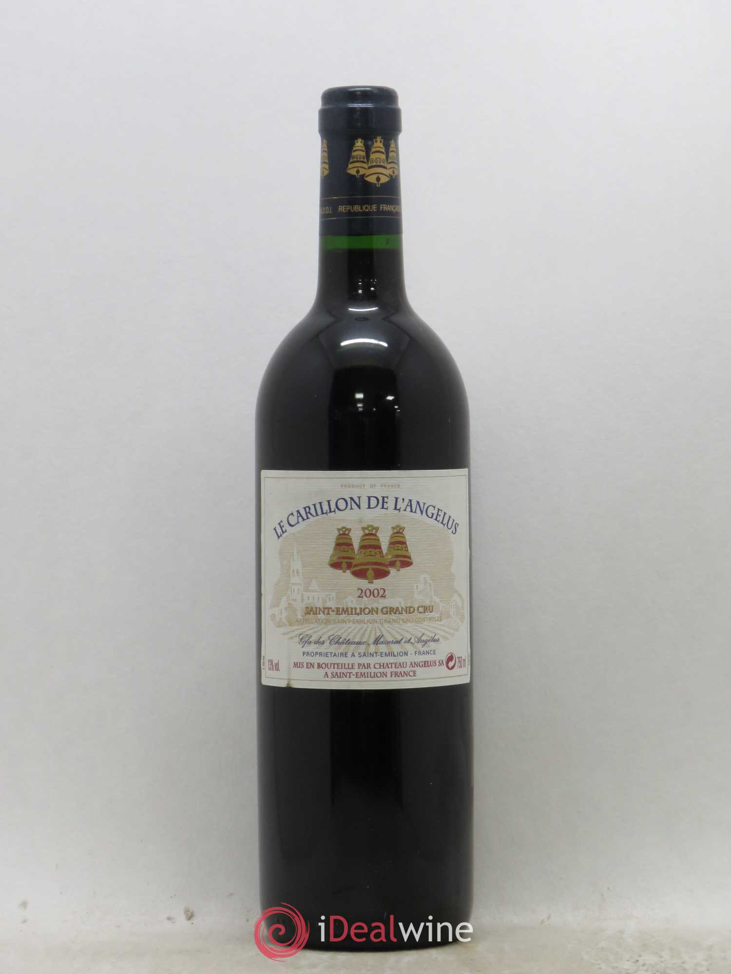 Le Carillon de l'Angélus Second vin  2002 - Lot of 1 Bottle