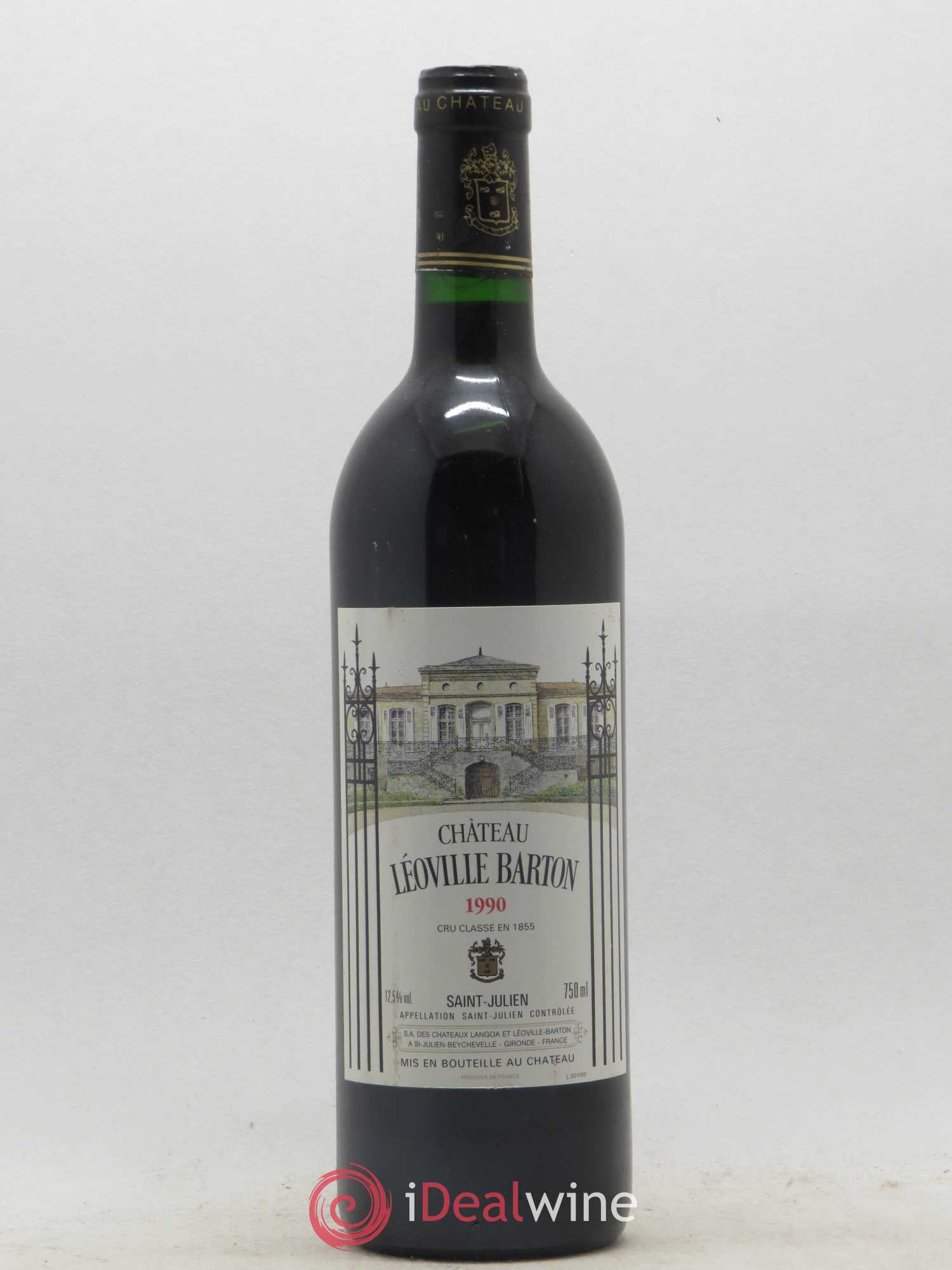Château Léoville Barton 2ème Grand Cru Classé  1990 - Lot of 1 Bottle