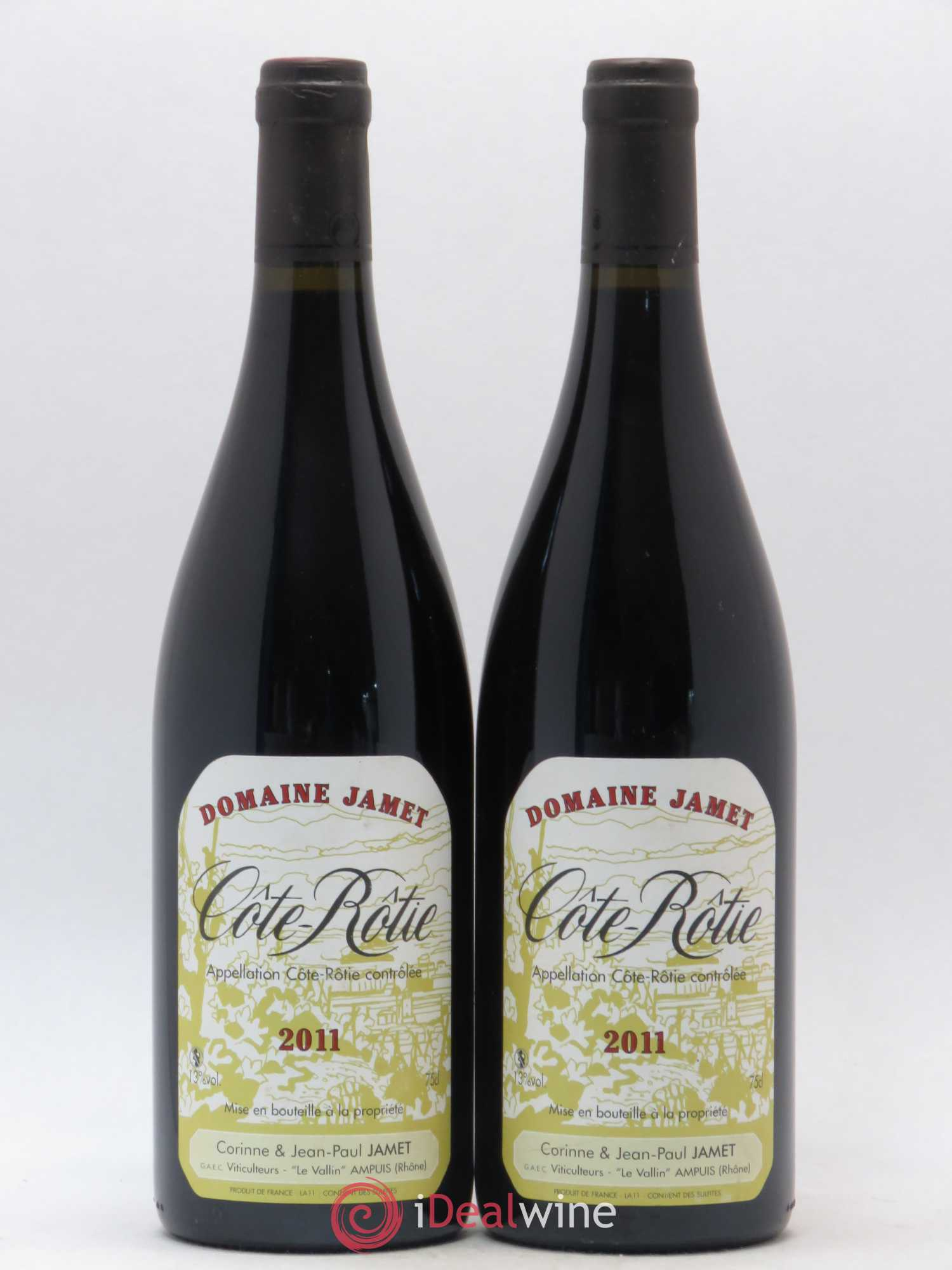 Côte-Rôtie Jamet  2011 - Lot of 2 Bottles