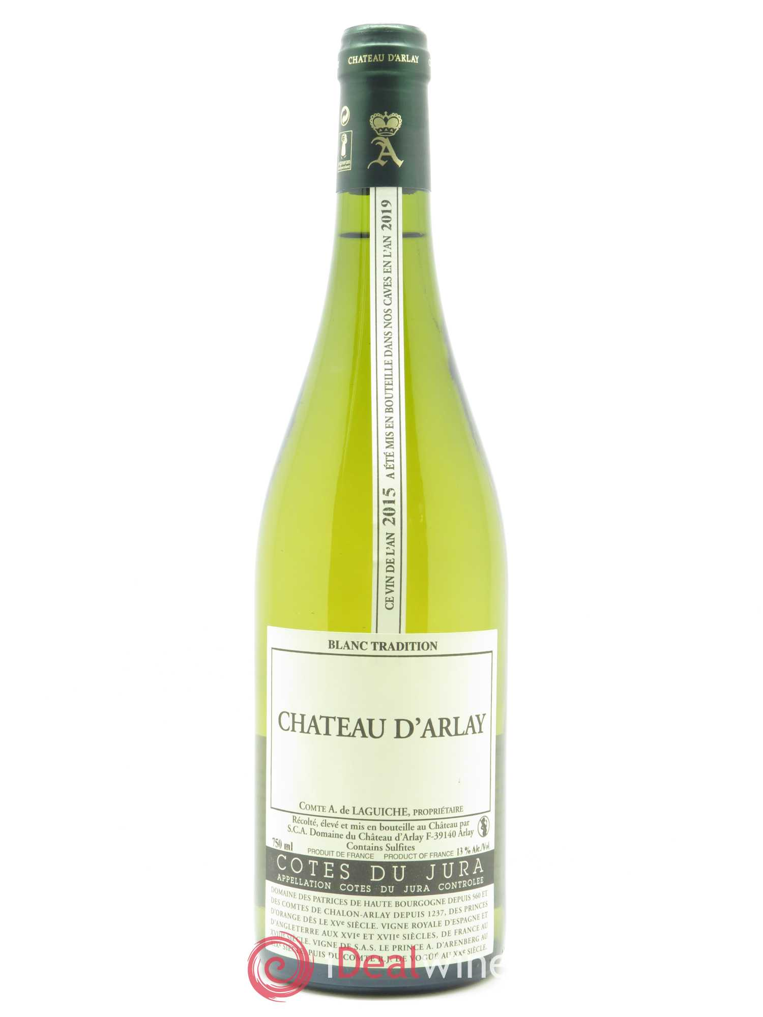 Côtes du Jura Château d'Arlay  2015 - Lot of 1 Bottle