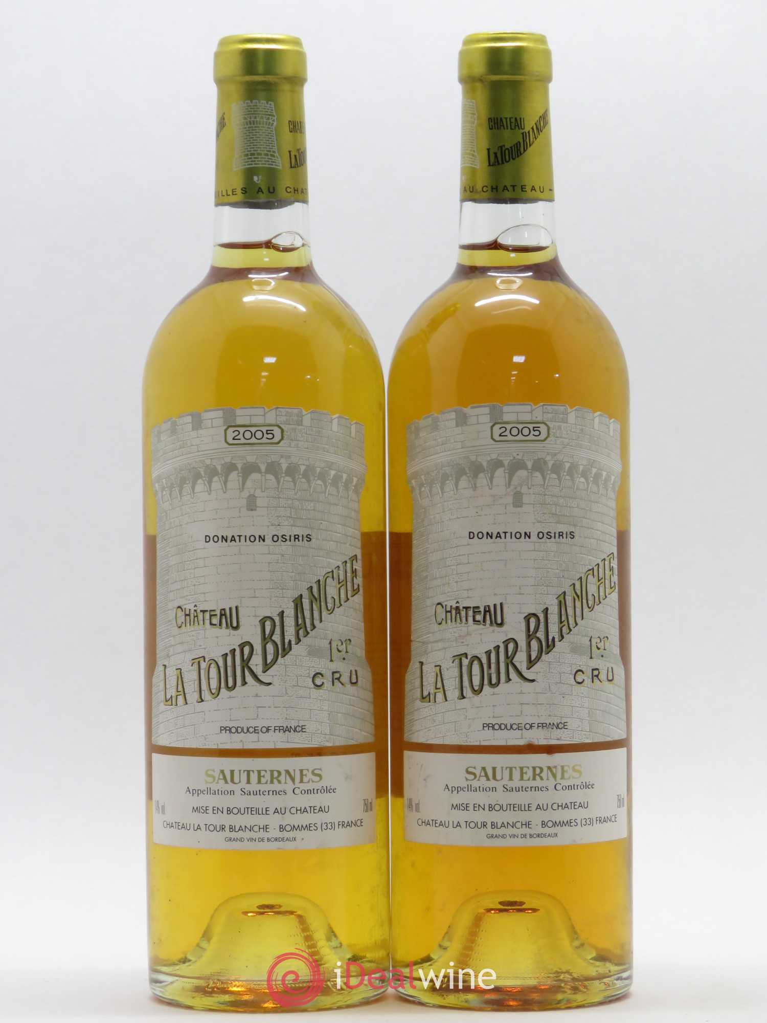 Château la Tour Blanche 1er Grand Cru Classé Sauternes 2005 - Lot of 2 Bottles
