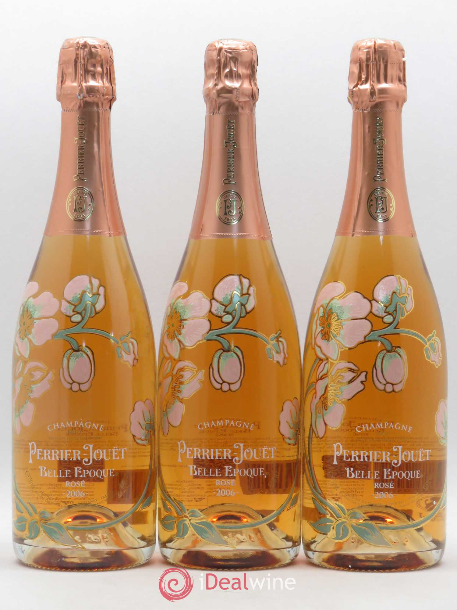 Cuvée Belle Epoque Perrier Jouët  2006 - Lot of 3 Bottles