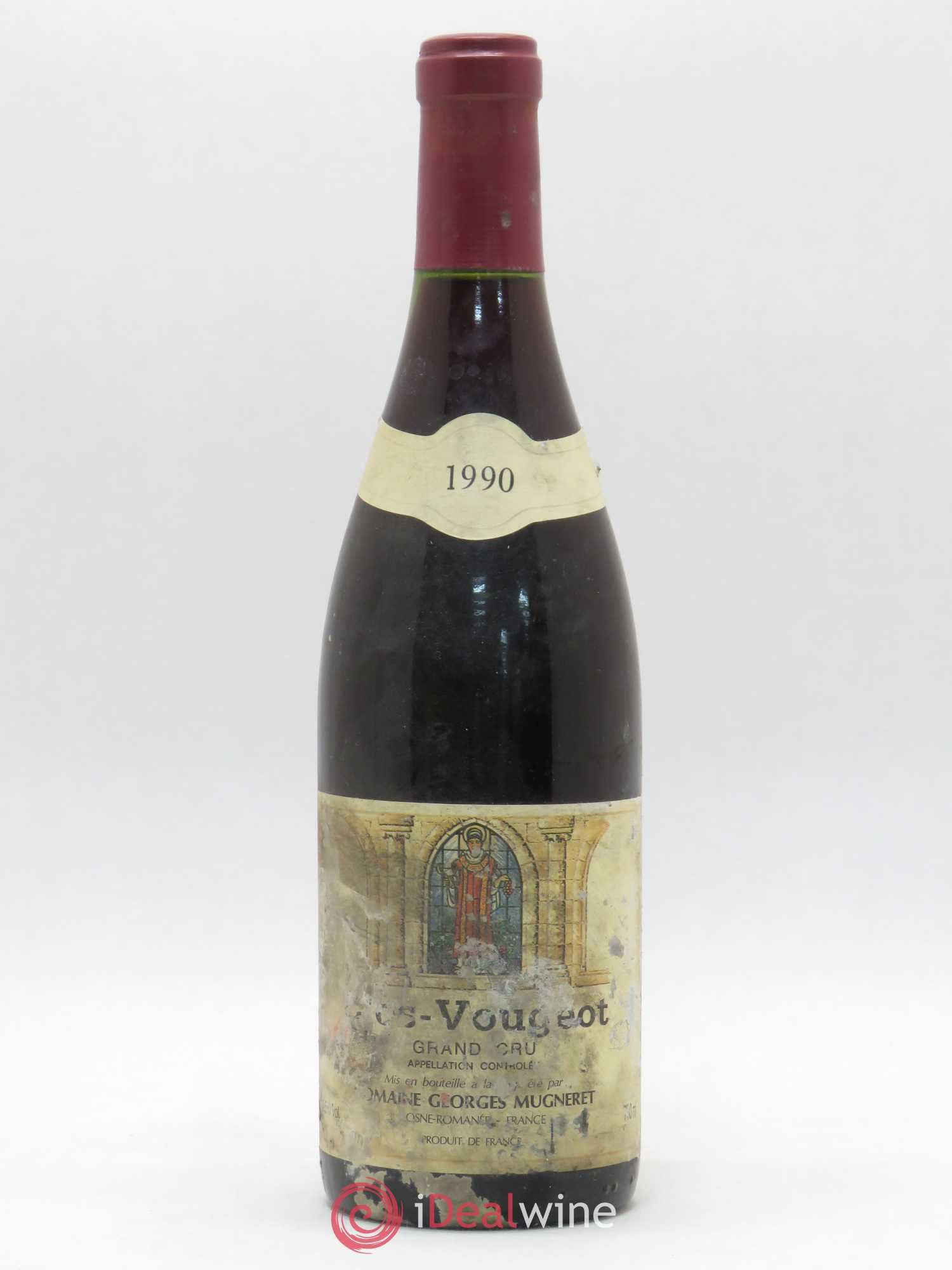 Clos de Vougeot Grand Cru Georges Mugneret (Domaine)  1990 - Lot of 1 Bottle
