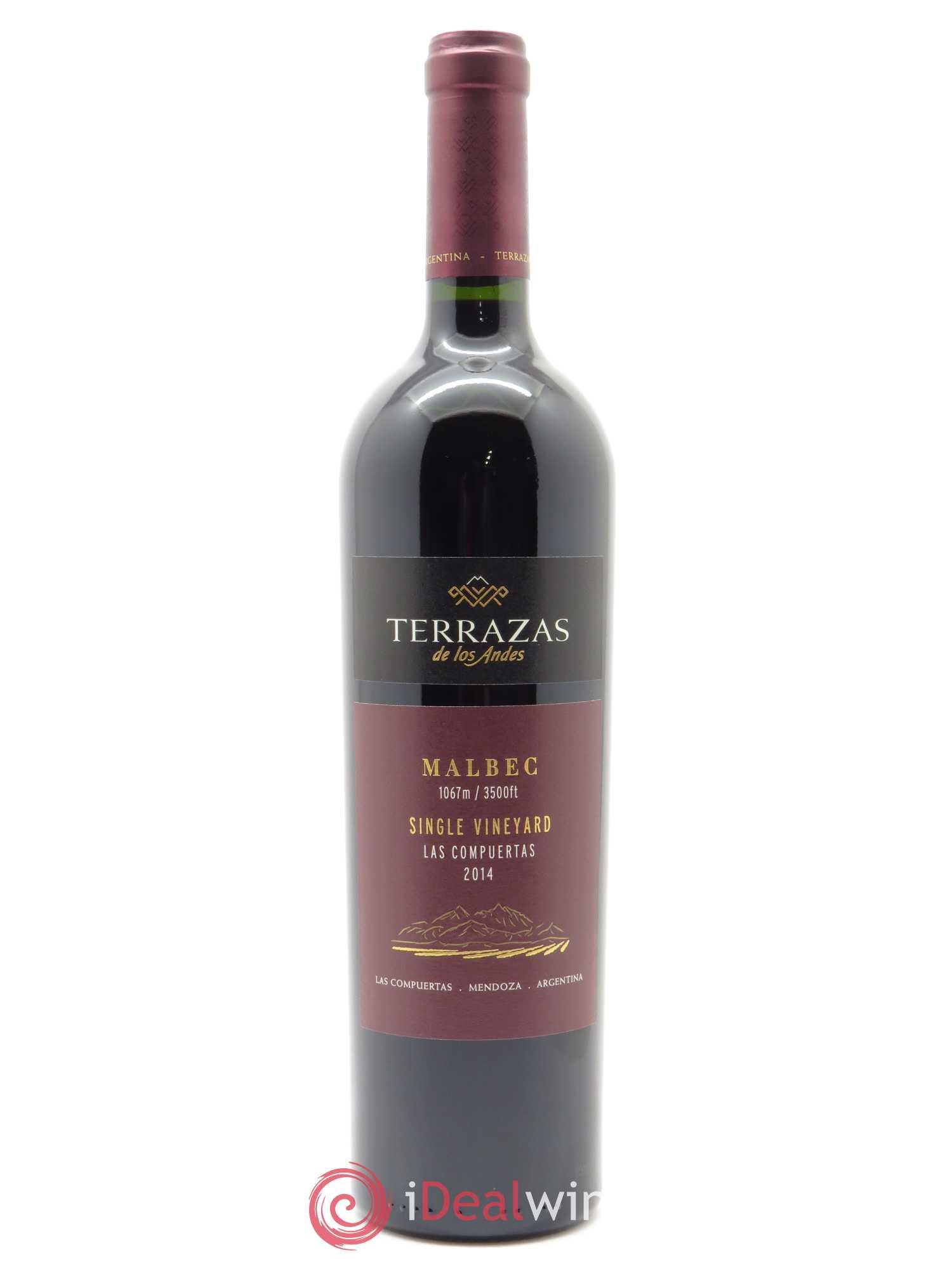 Mendoza Single Vineyard Las Compuertas Malbec Terrazas De Los Andes 2014