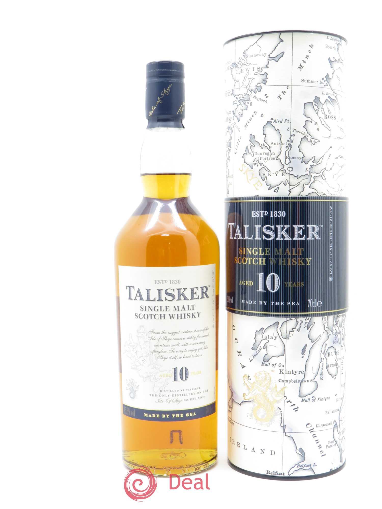Whisky Talisker Single Malt Scotch Aged 10 Years Talisker   - Lot de 1 Bouteille