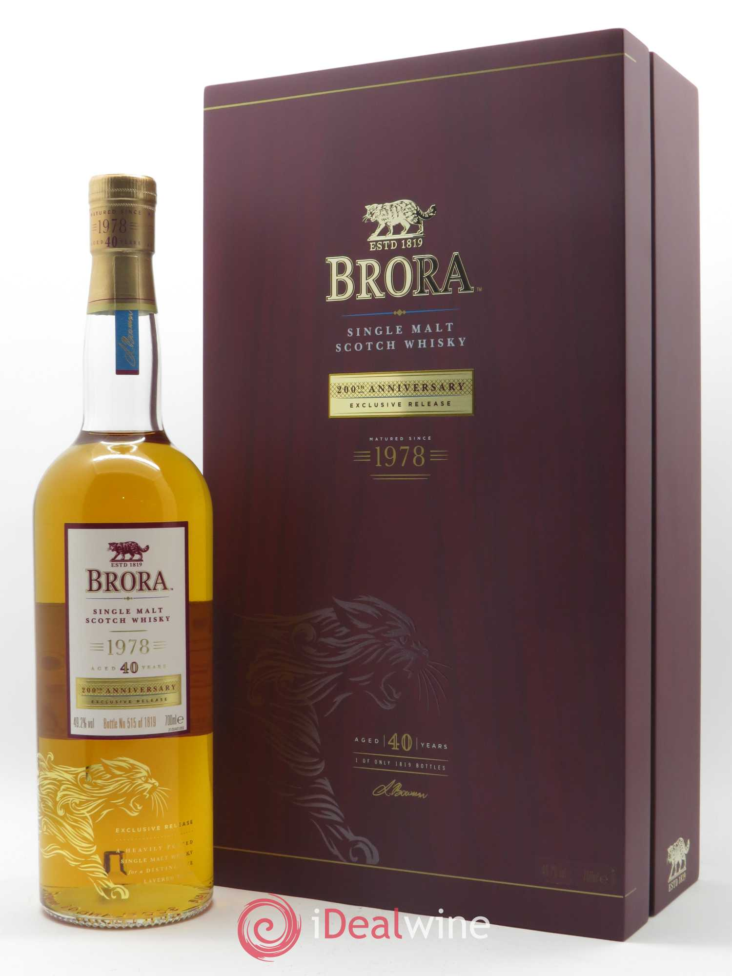 Whisky Brora Single Malt Scotch Aged 40 Years   - Lot de 1 Bouteille