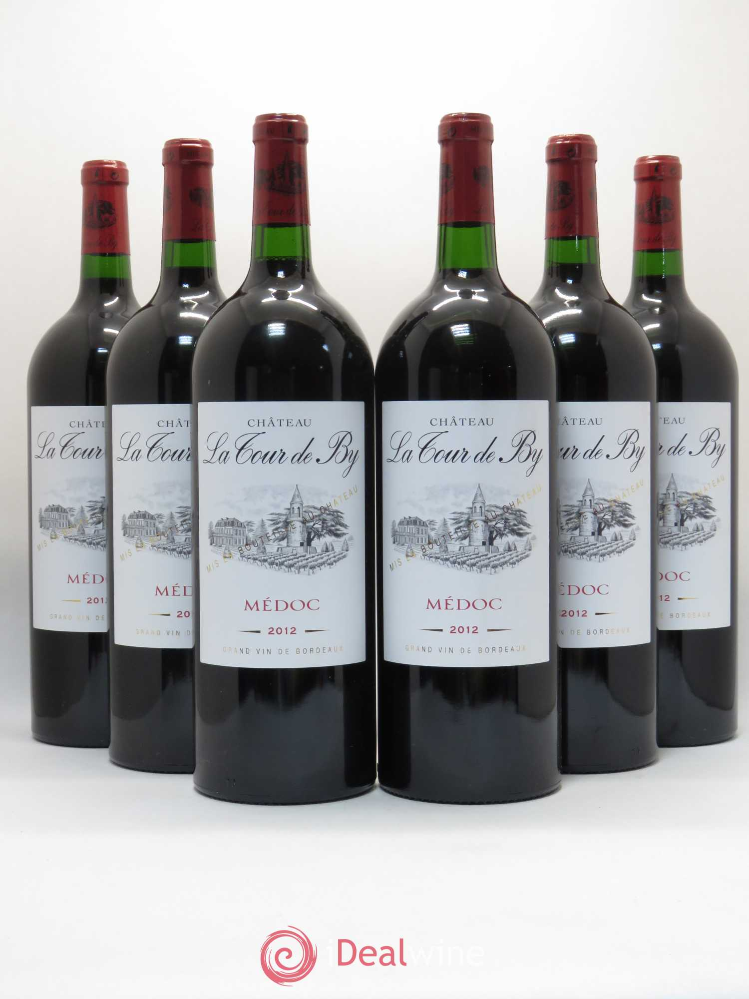 Château La Tour de By Cru Bourgeois  2012 - Lot of 6 Magnums