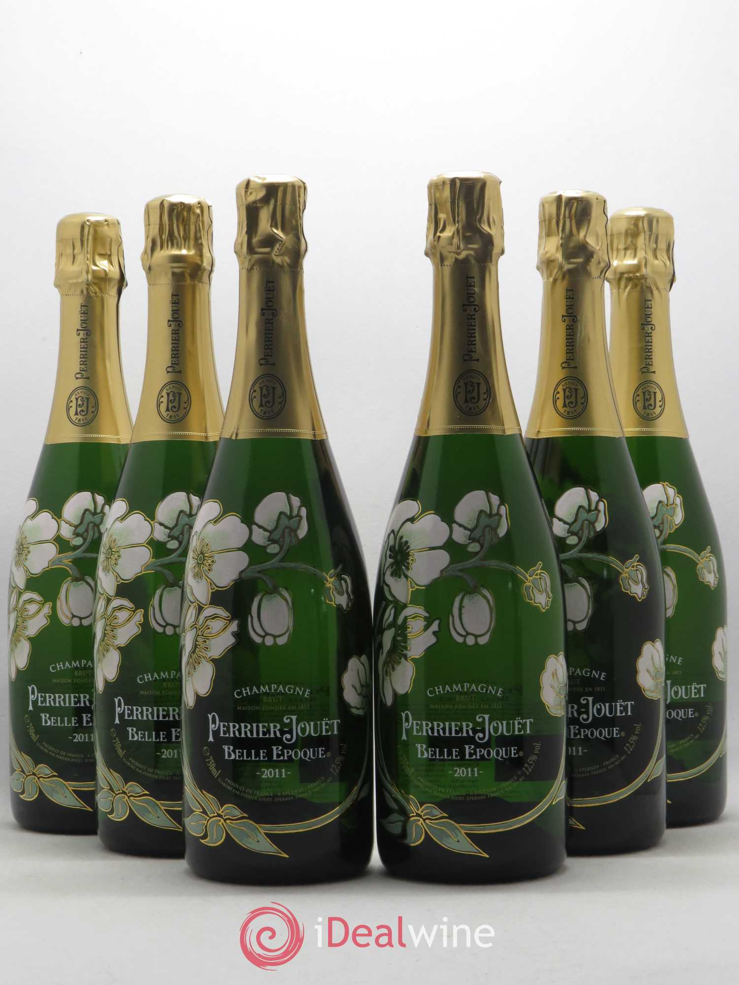 Cuvée Belle Epoque Perrier Jouët  2011 - Lot of 6 Bottles