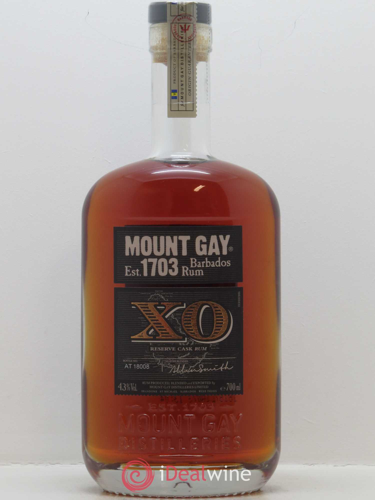 Rhum Mount Gay XO (70cl)  - Lot de 1 Bouteille