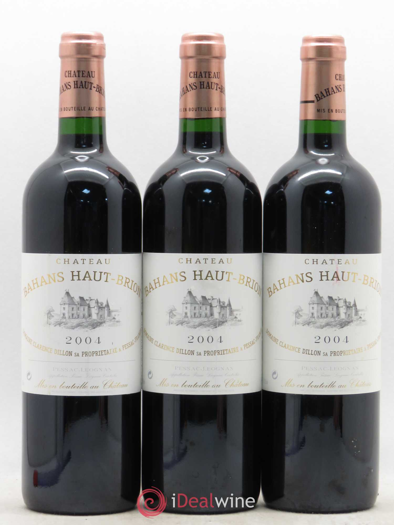 Clarence (Bahans) de Haut-Brion Second Vin  2004 - Lot of 3 Bottles