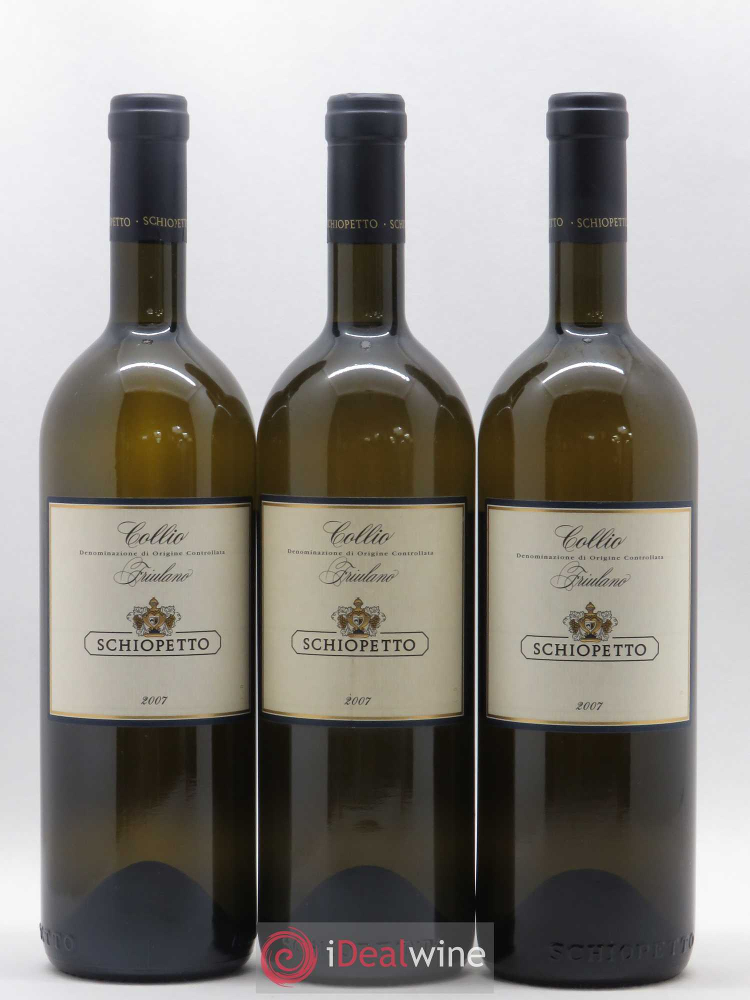 Italie Friulano Collio Schiopetto (no reserve) 2007 - Lot of 3 Bottles
