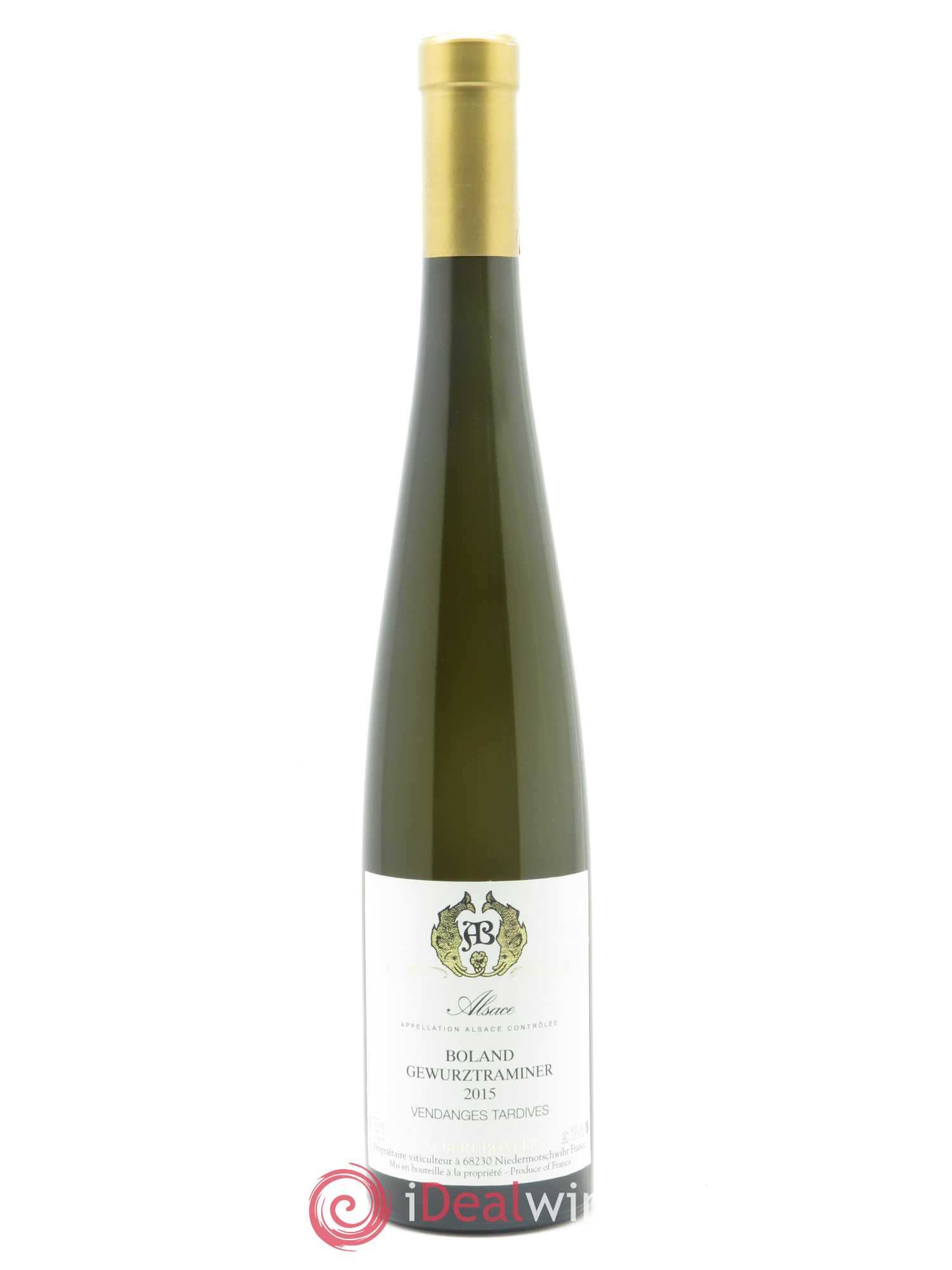 Gewurztraminer Boland Vendages Tardives Albert Boxler  2015 - Lot of 1 Bottle