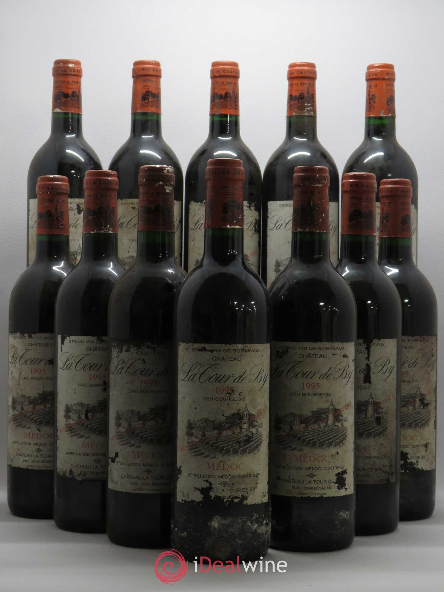 Château La Tour de By Cru Bourgeois (no reserve) 1995 - Lot of 12 Bottles