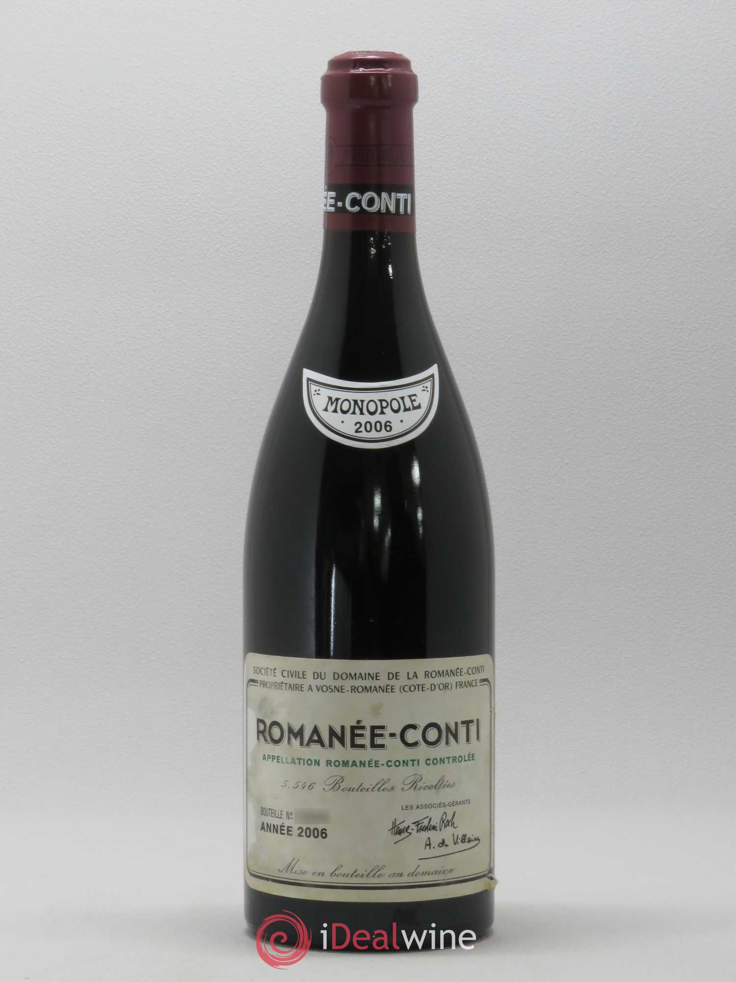 Romanée-Conti Grand Cru Domaine de la Romanée-Conti  2006 - Lot of 1 Bottle