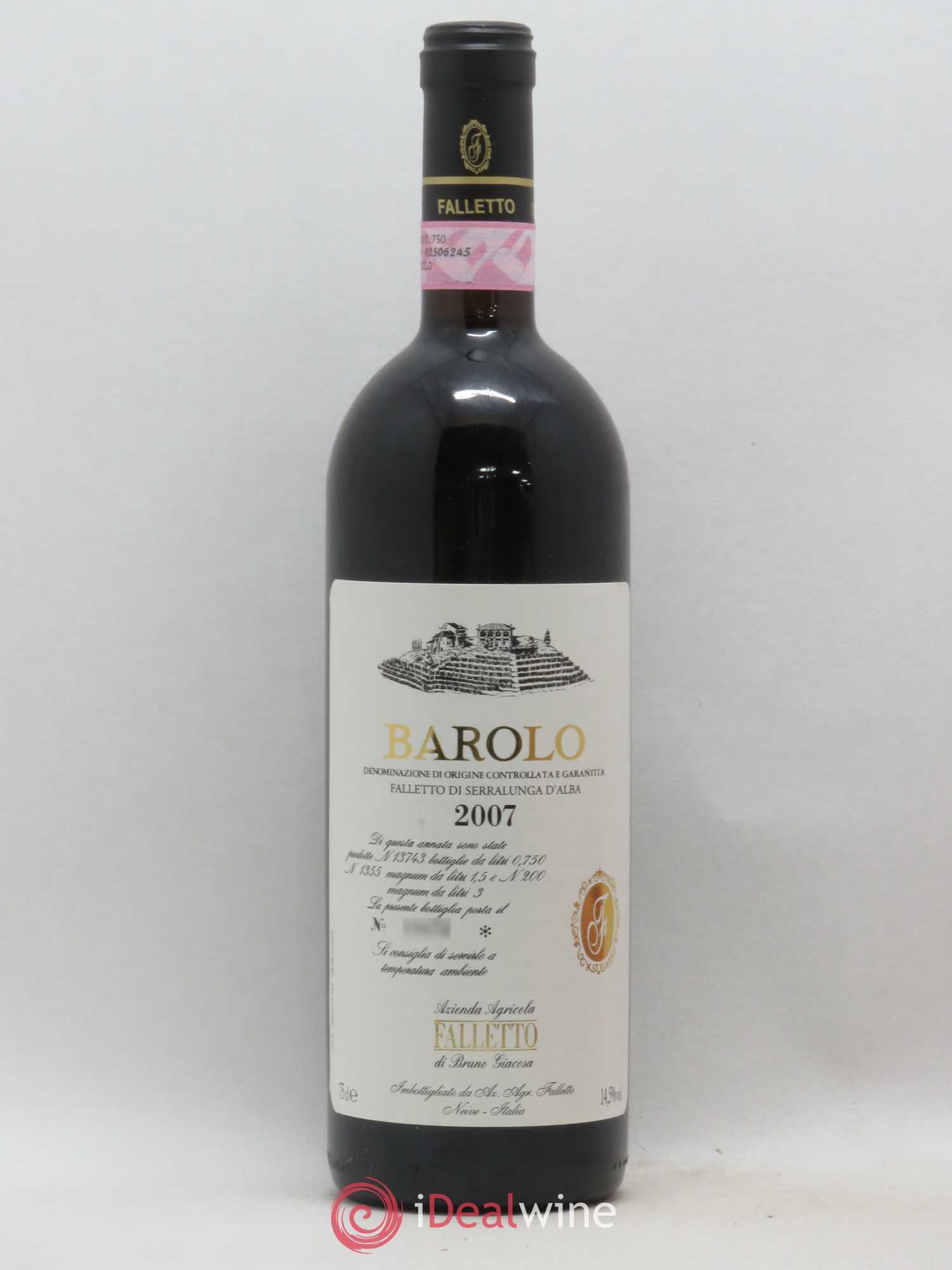 Azienda Agricola Porta Magenta barolo bruno giacosa docg falletto 2007