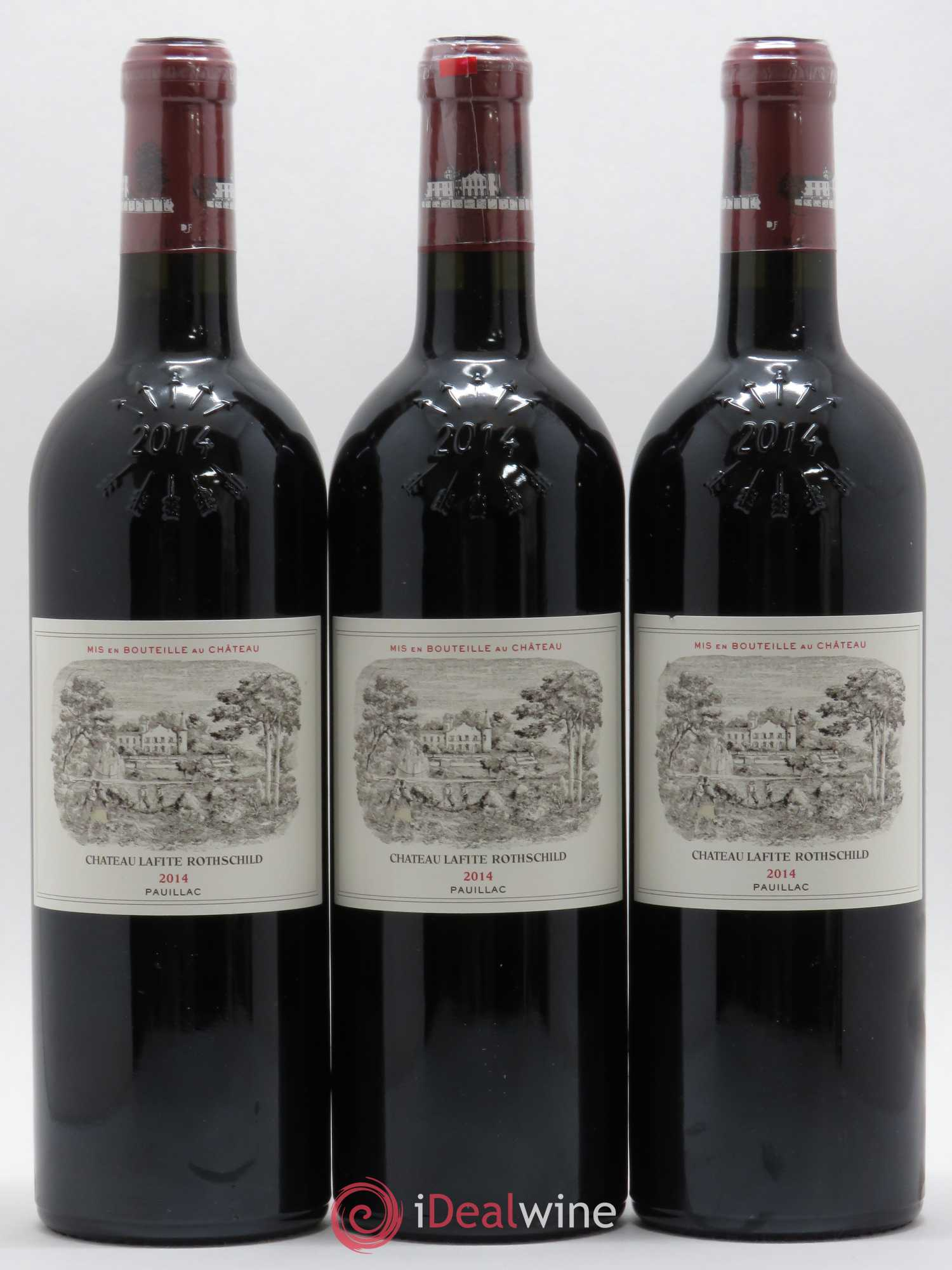 Château Lafite Rothschild 1er Grand Cru Classé  2014 - Lot of 3 Bottles