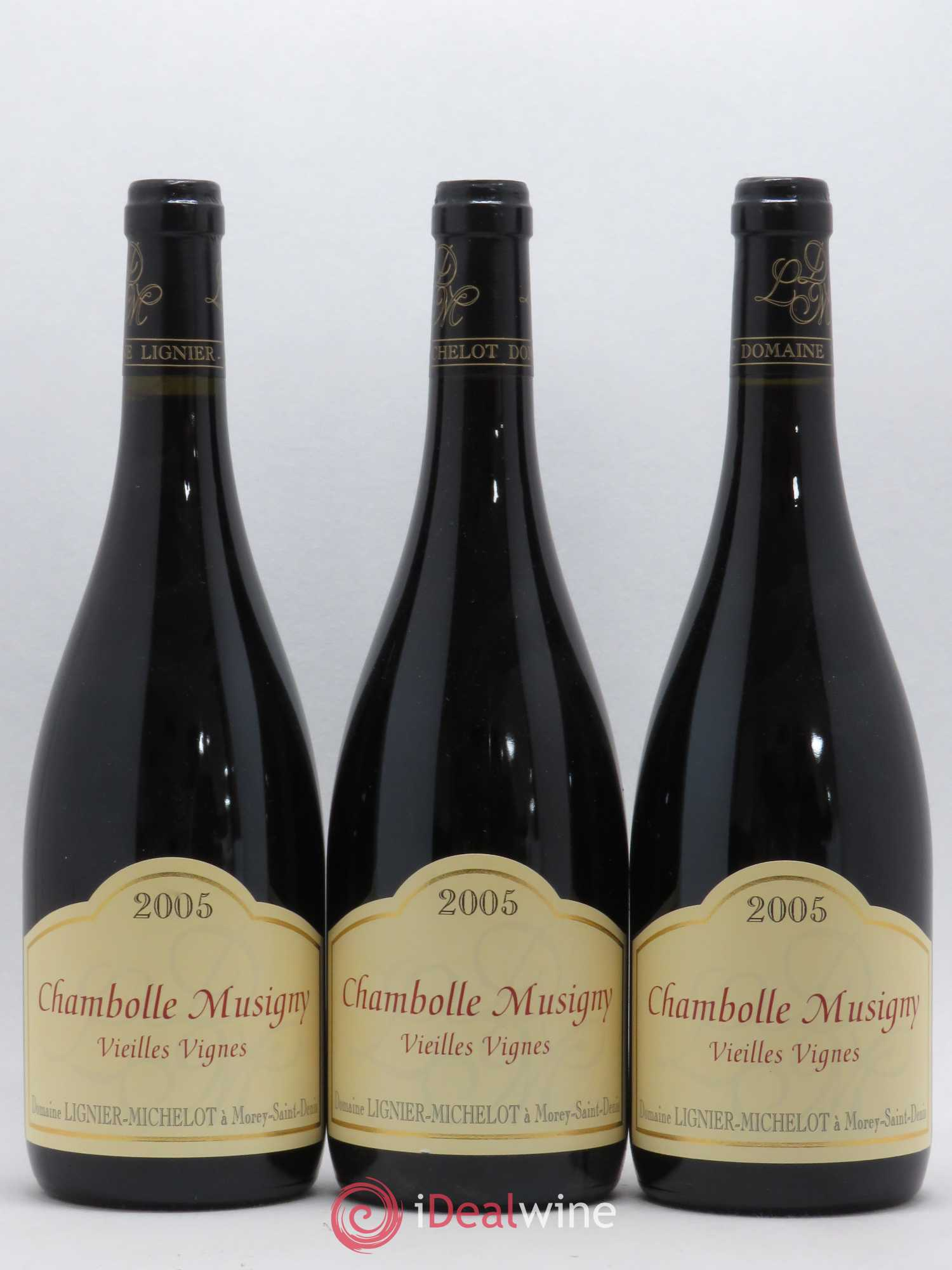 Chambolle-Musigny Vieilles vignes Lignier-Michelot (Domaine)  2005 - Lot of 3 Bottles