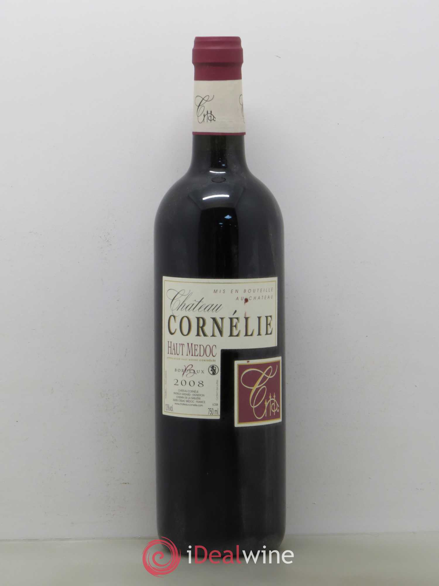 Haut Médoc Château Cornelie (no reserve) 2008 - Lot of 1 Bottle