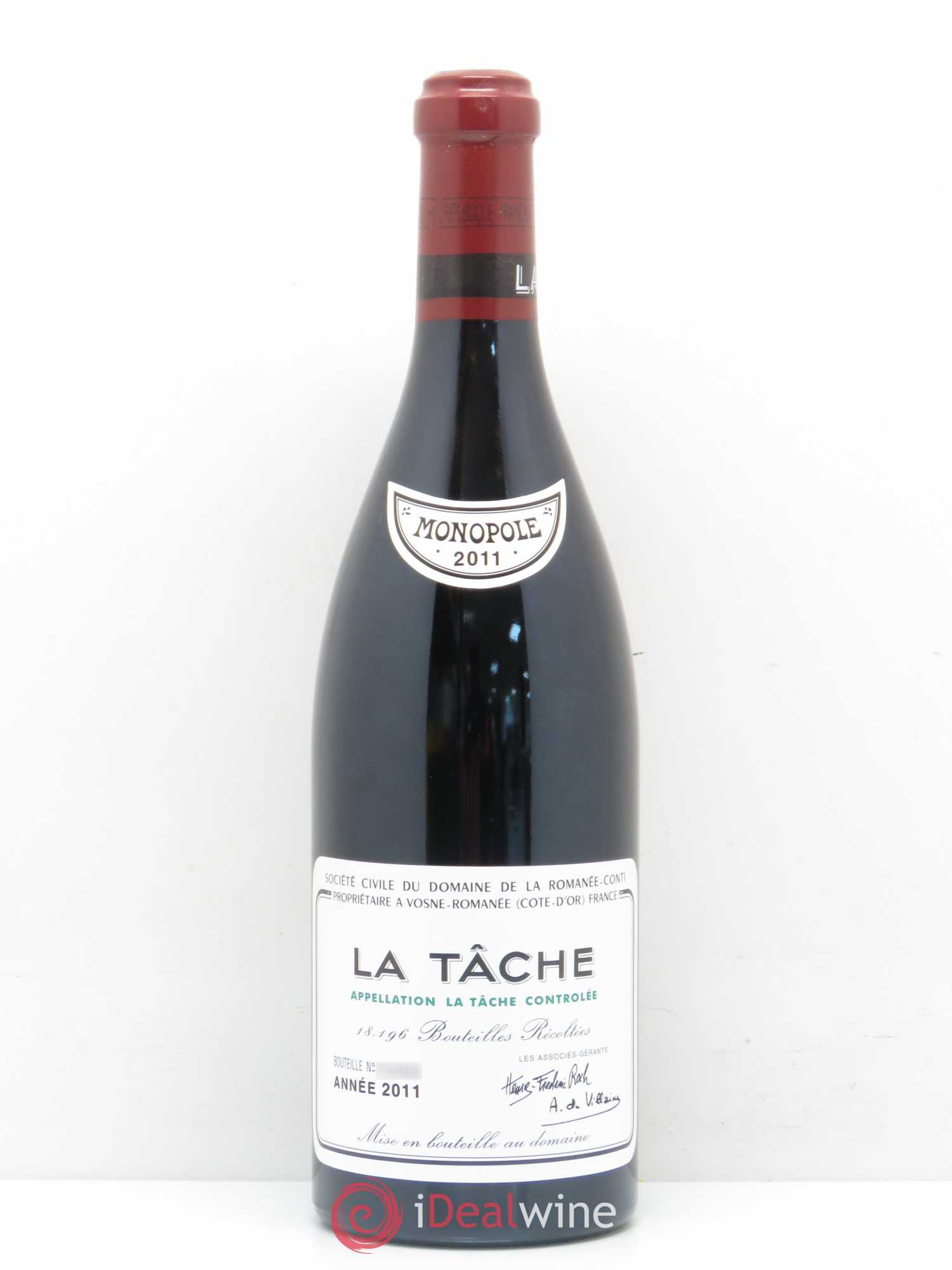La Tâche Grand Cru Domaine de la Romanée-Conti  2011 - Lot of 1 Bottle
