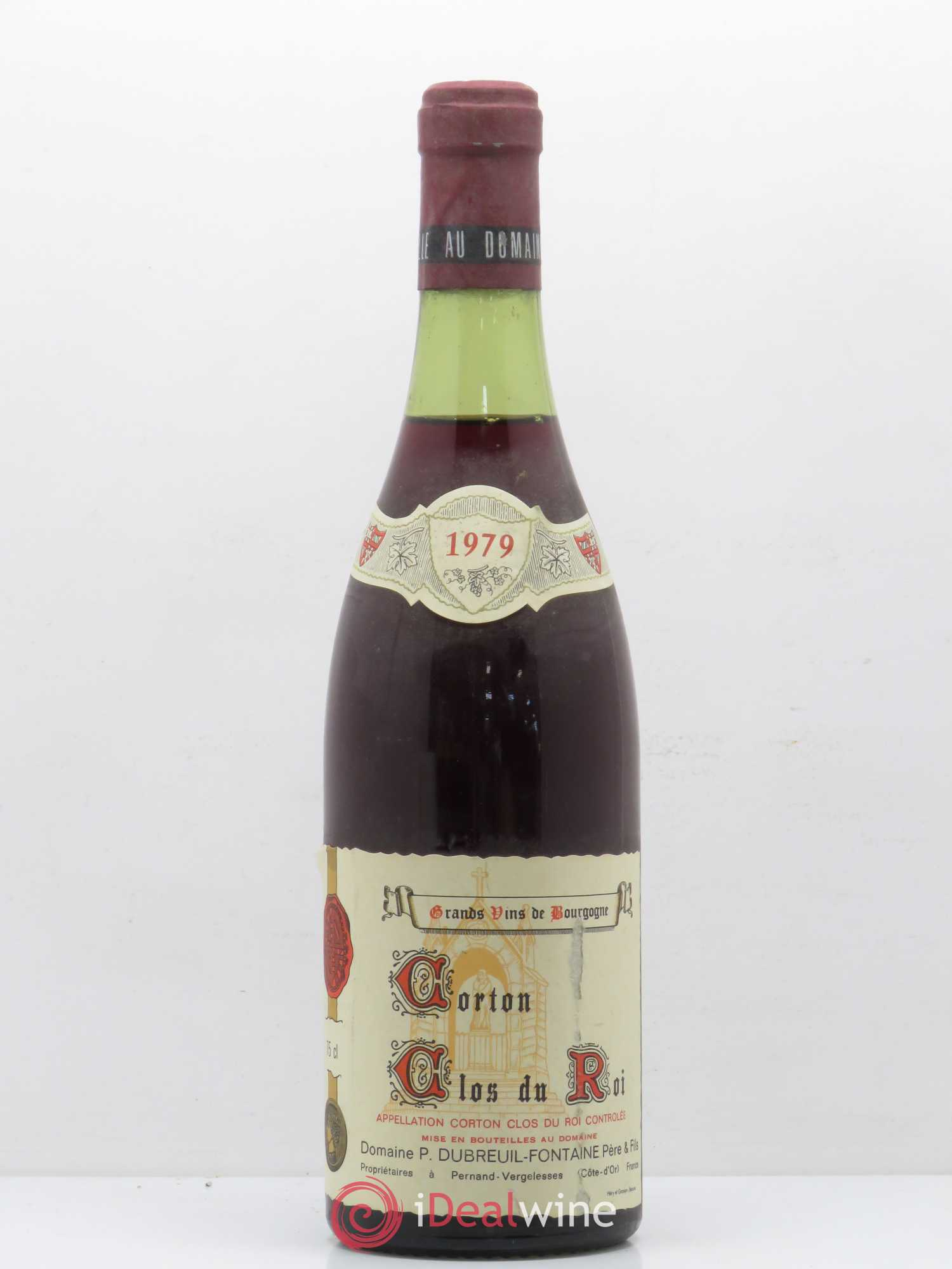 Corton Grand Cru Clos du Roi Dubreuil Fontaine (no reserve) 1979 - Lot of 1 Bottle