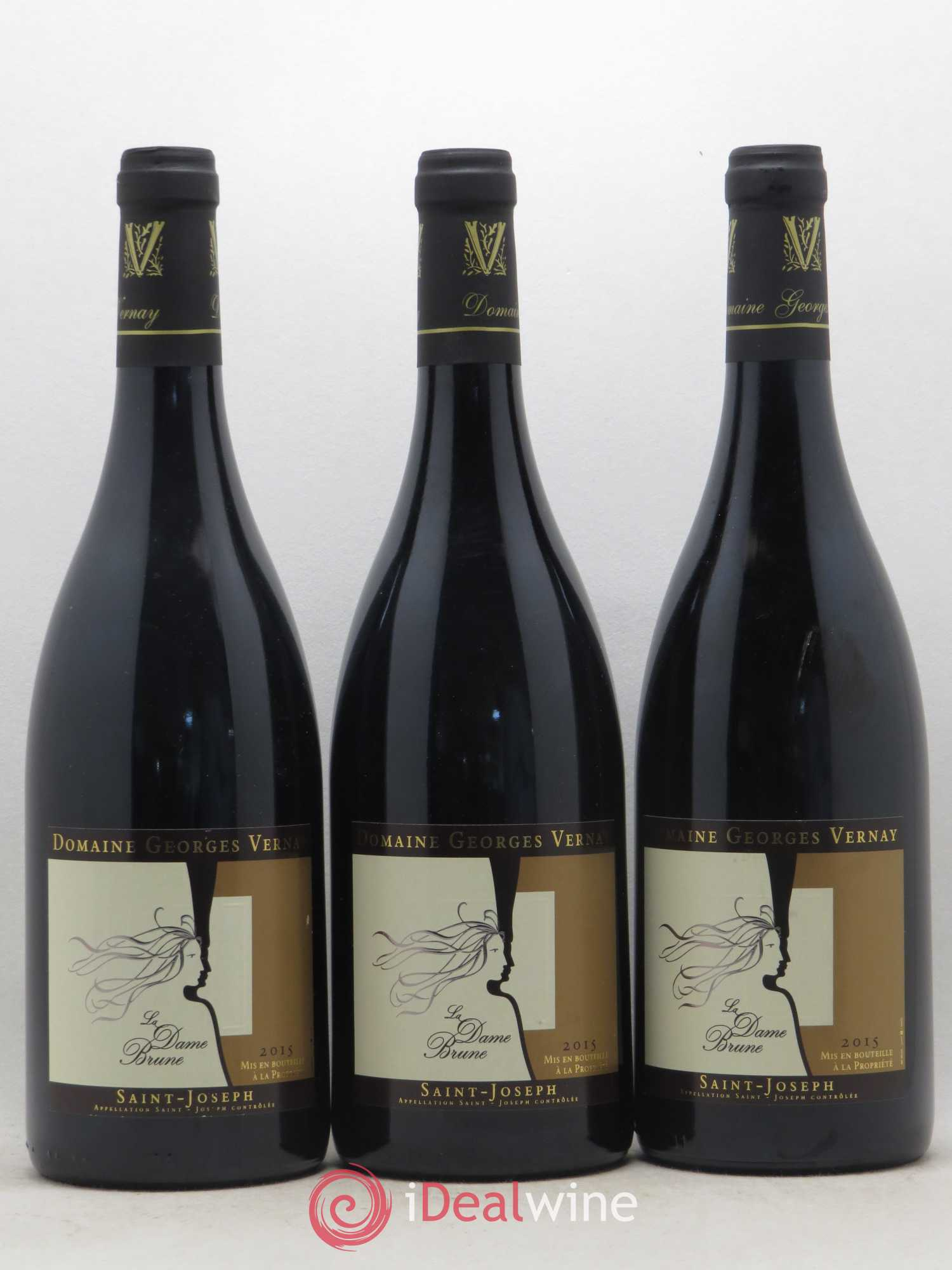 Saint-Joseph La Dame Brune Georges Vernay (no reserve) 2015 - Lot of 3 Bottles