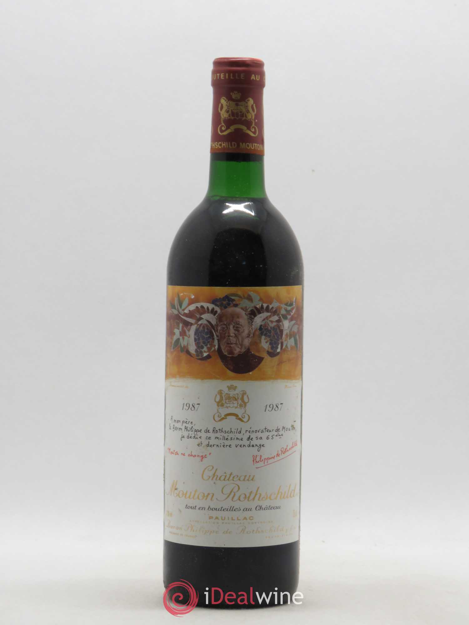 Château Mouton Rothschild 1er Grand Cru Classé (no reserve) 1987 - Lot of 1 Bottle