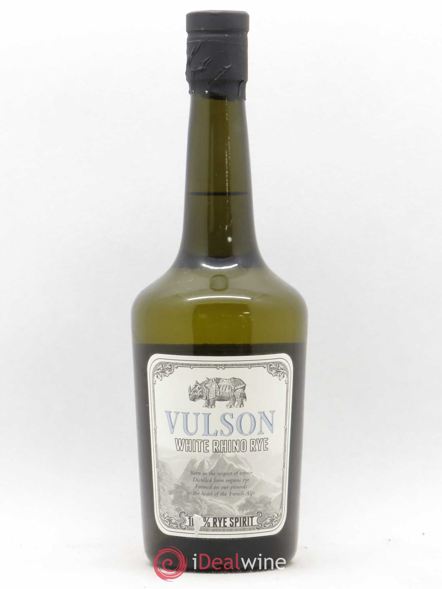 Whisky France Rye Whiskey Vulson White Rhino Domaine des Hautes Glaces (no reserve)  - Lot of 1 Bottle