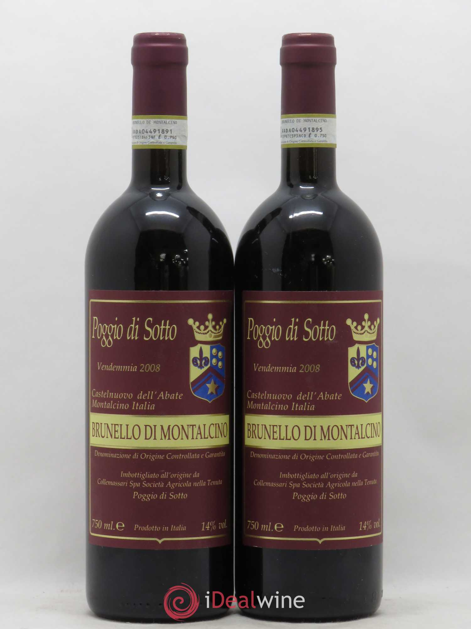 Brunello di Montalcino Poggio di Sotto  2008 - Lot of 2 Bottles