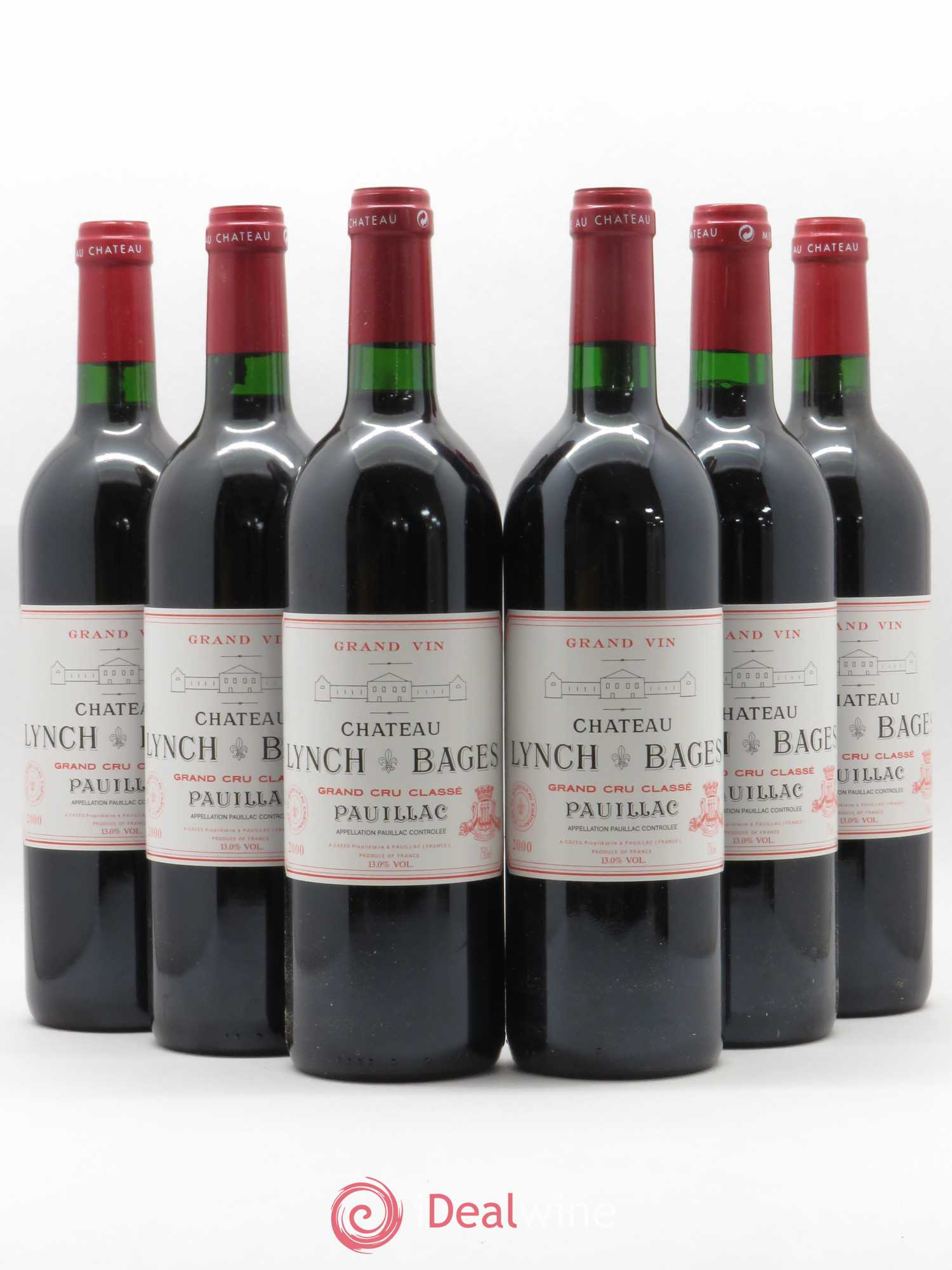 Château Lynch Bages 5ème Grand Cru Classé  2000 - Lot of 6 Bottles