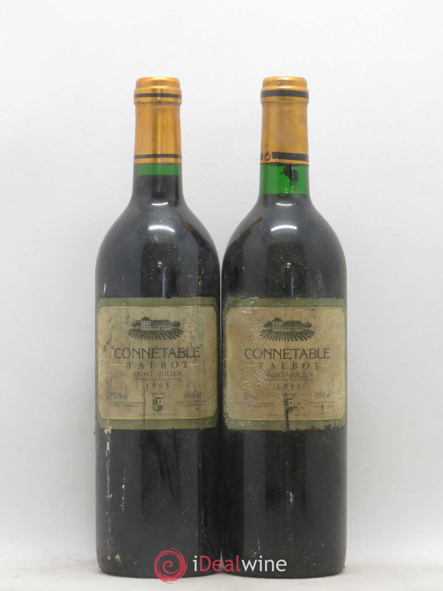 Connétable de Talbot Second vin  1993 - Lot de 2 Bouteilles