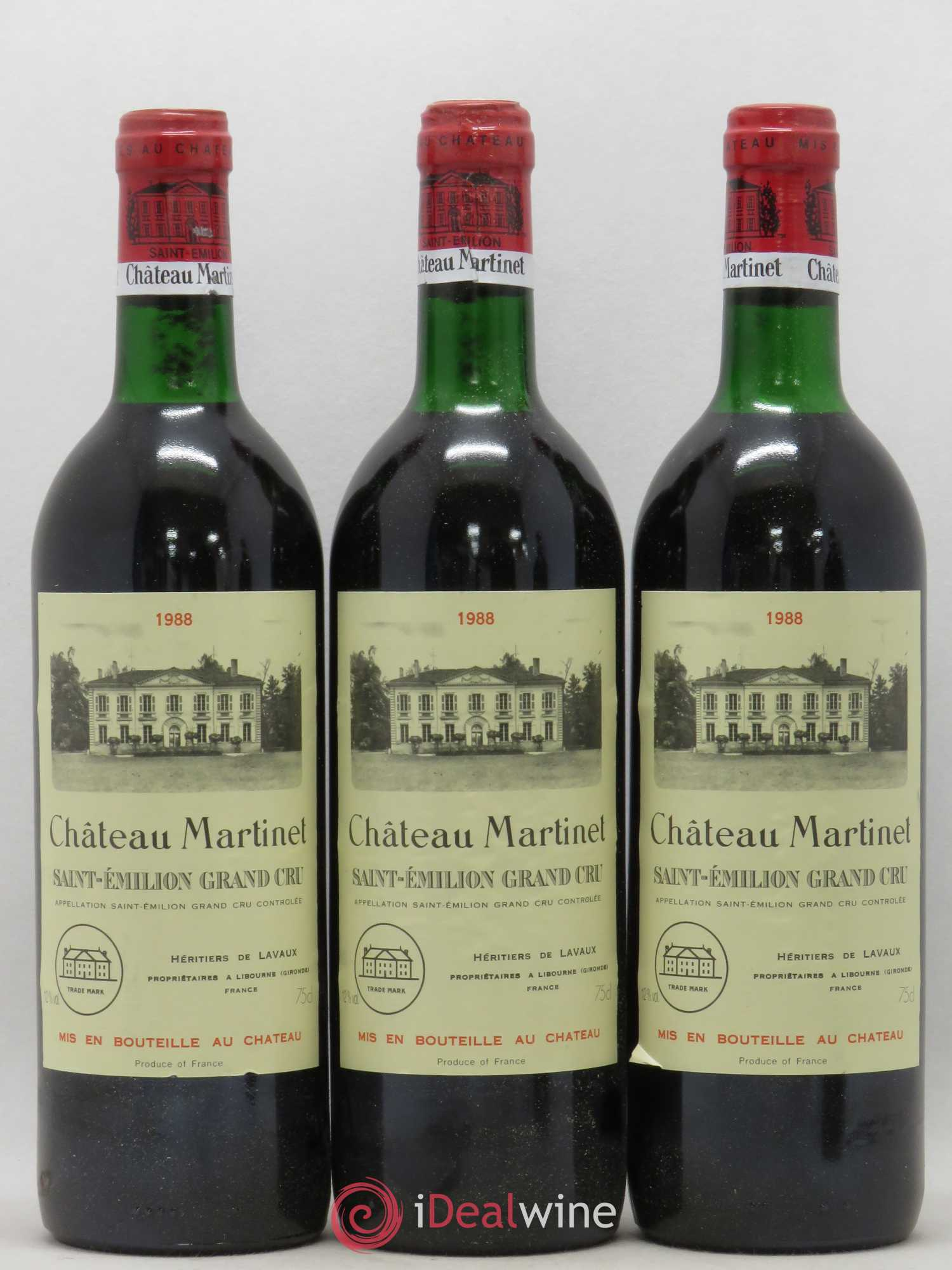 Château Martinet (no reserve) 1988 - Lot of 3 Bottles