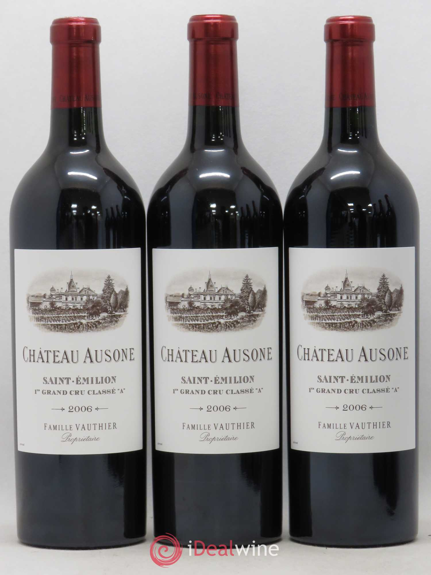 Château Ausone 1er Grand Cru Classé A  2006 - Lot of 3 Bottles