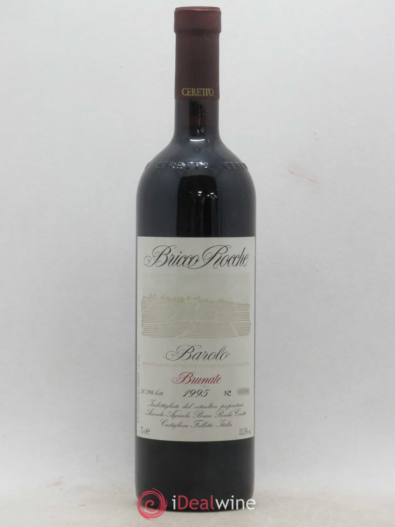 Barolo Bricco Rocche DOCG Ceretto Brunate (no reserve) 1995 - Lot of 1 Bottle