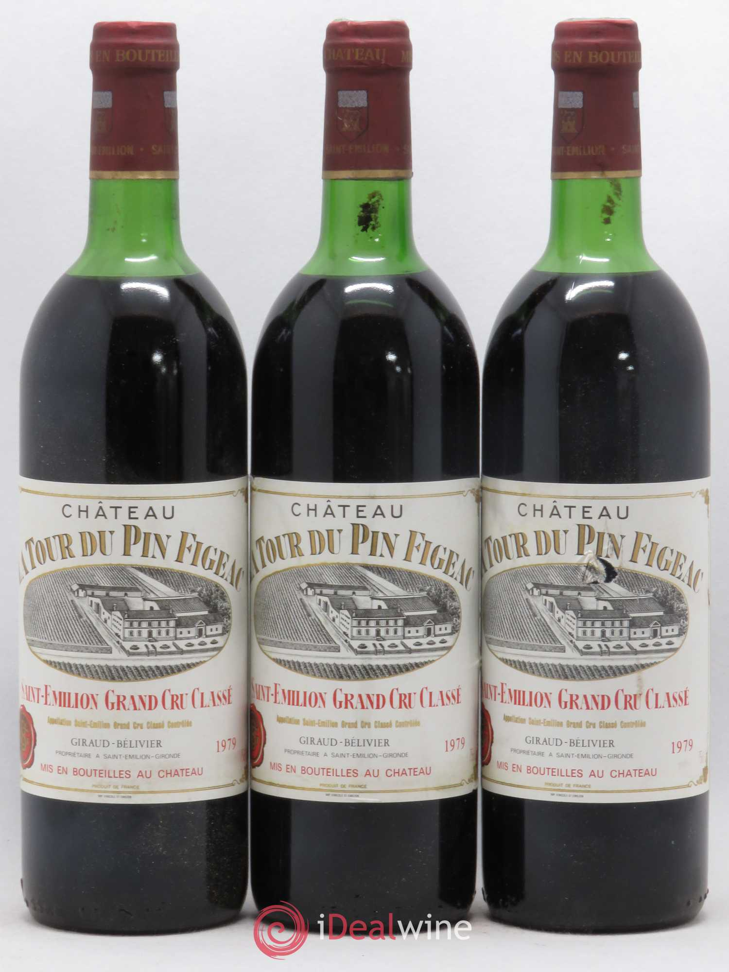 Château la Tour du Pin Figeac (no reserve) 1979 - Lot of 3 Bottles