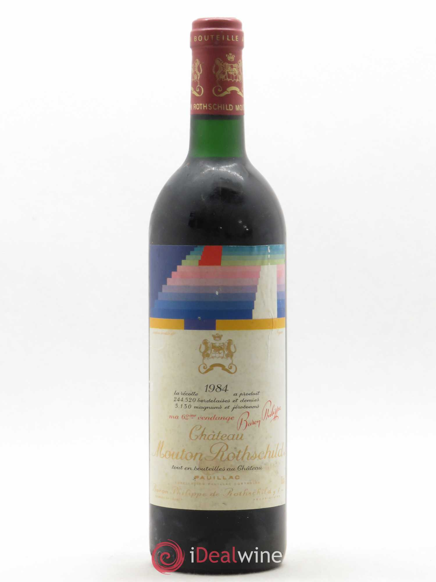 Château Mouton Rothschild 1er Grand Cru Classé (no reserve) 1984 - Lot of 1 Bottle