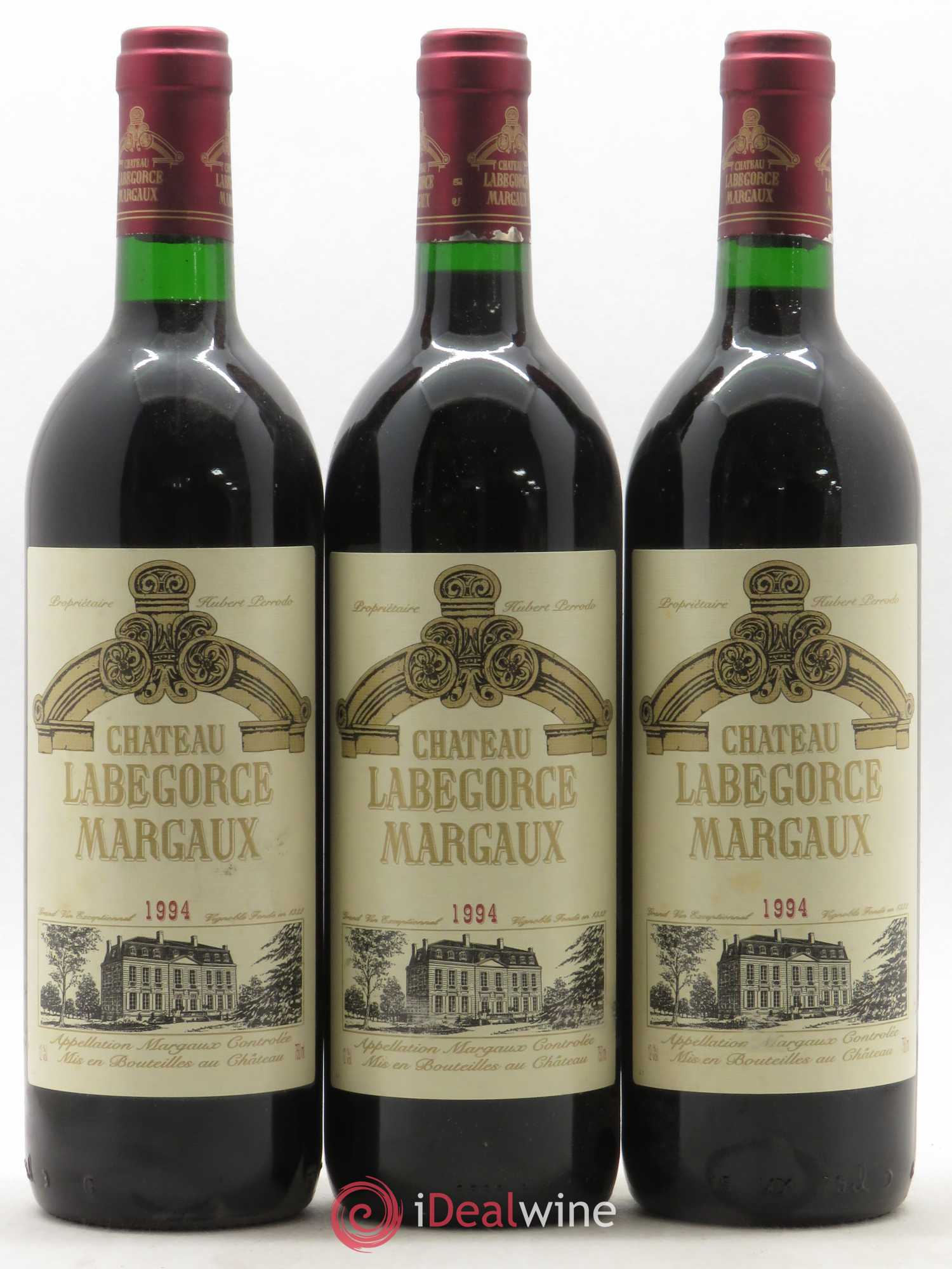 Château Labegorce Cru Bourgeois (no reserve) 1994 - Lot of 3 Bottles