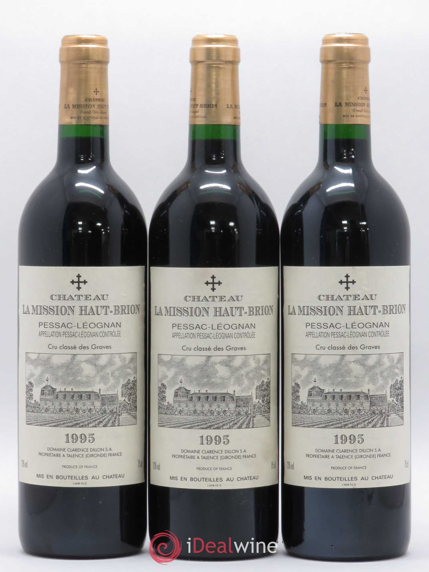 Château La Mission Haut-Brion Cru Classé de Graves  1995 - Lot of 3 Bottles