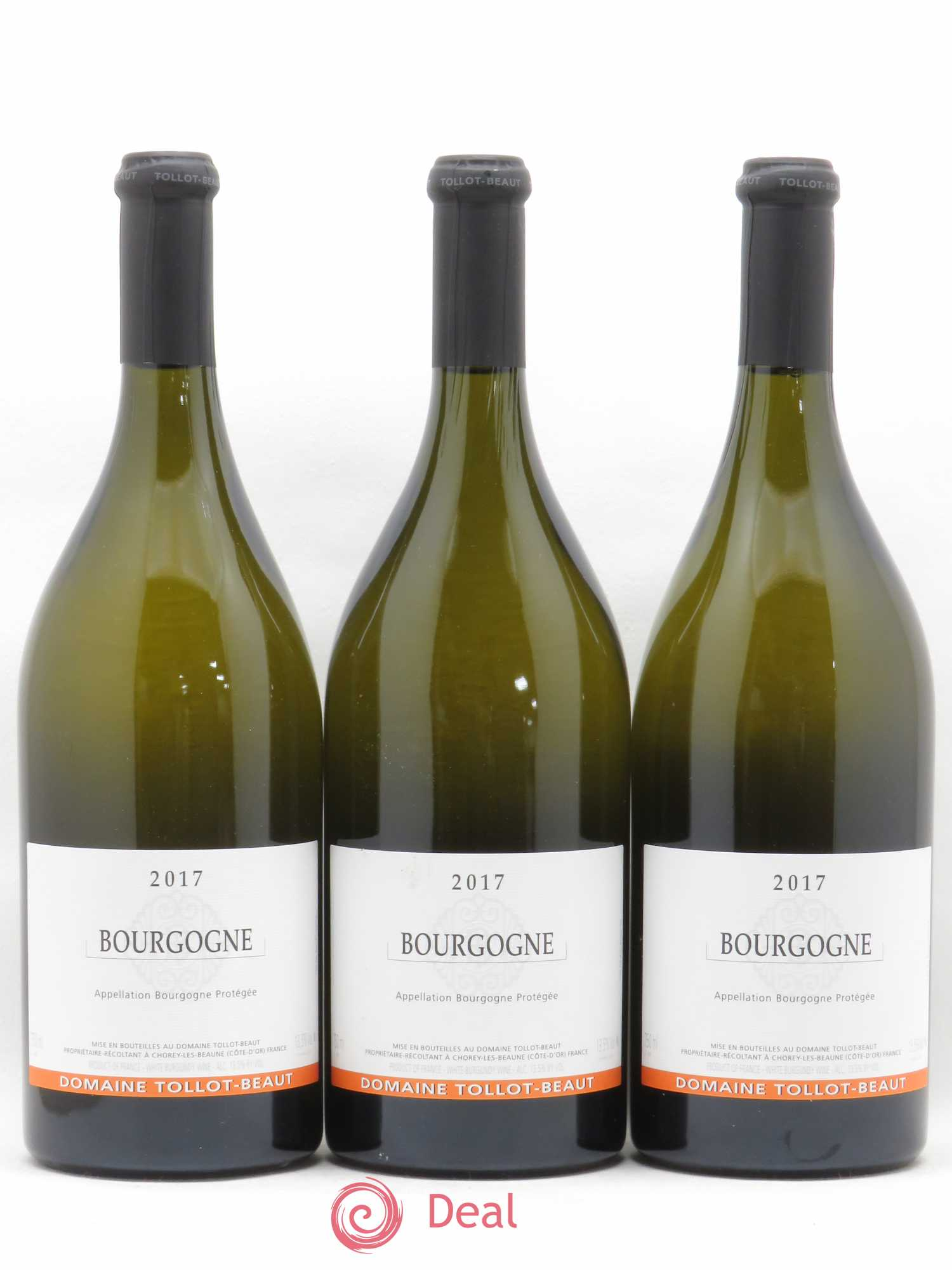 Bourgogne Chardonnay Tollot Beaut (Domaine)  2017 - Lot of 3 Bottles