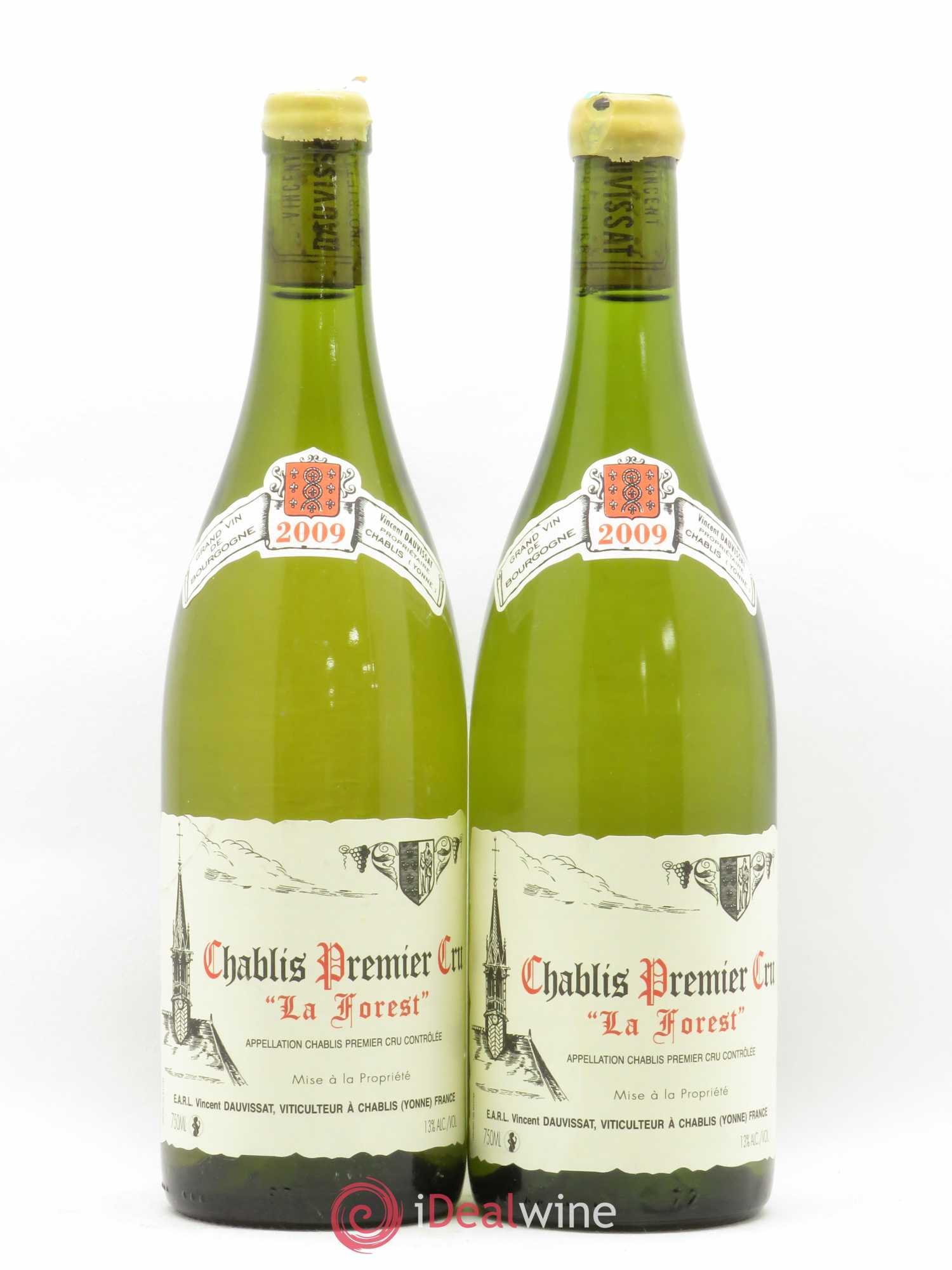 Chablis 1er Cru La Forest René et Vincent Dauvissat  2009 - Lot of 2 Bottles