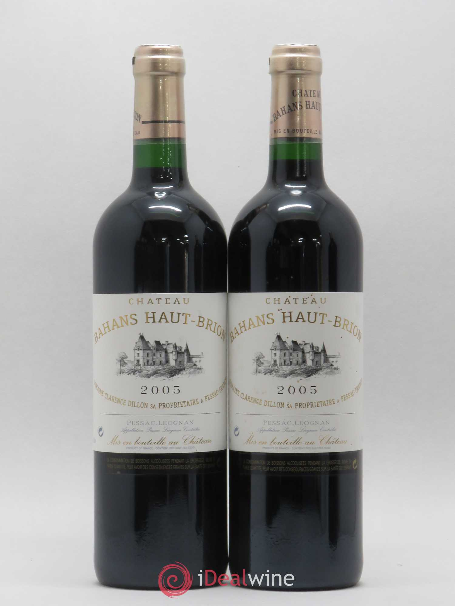Clarence (Bahans) de Haut-Brion Second Vin  2005 - Lot of 2 Bottles