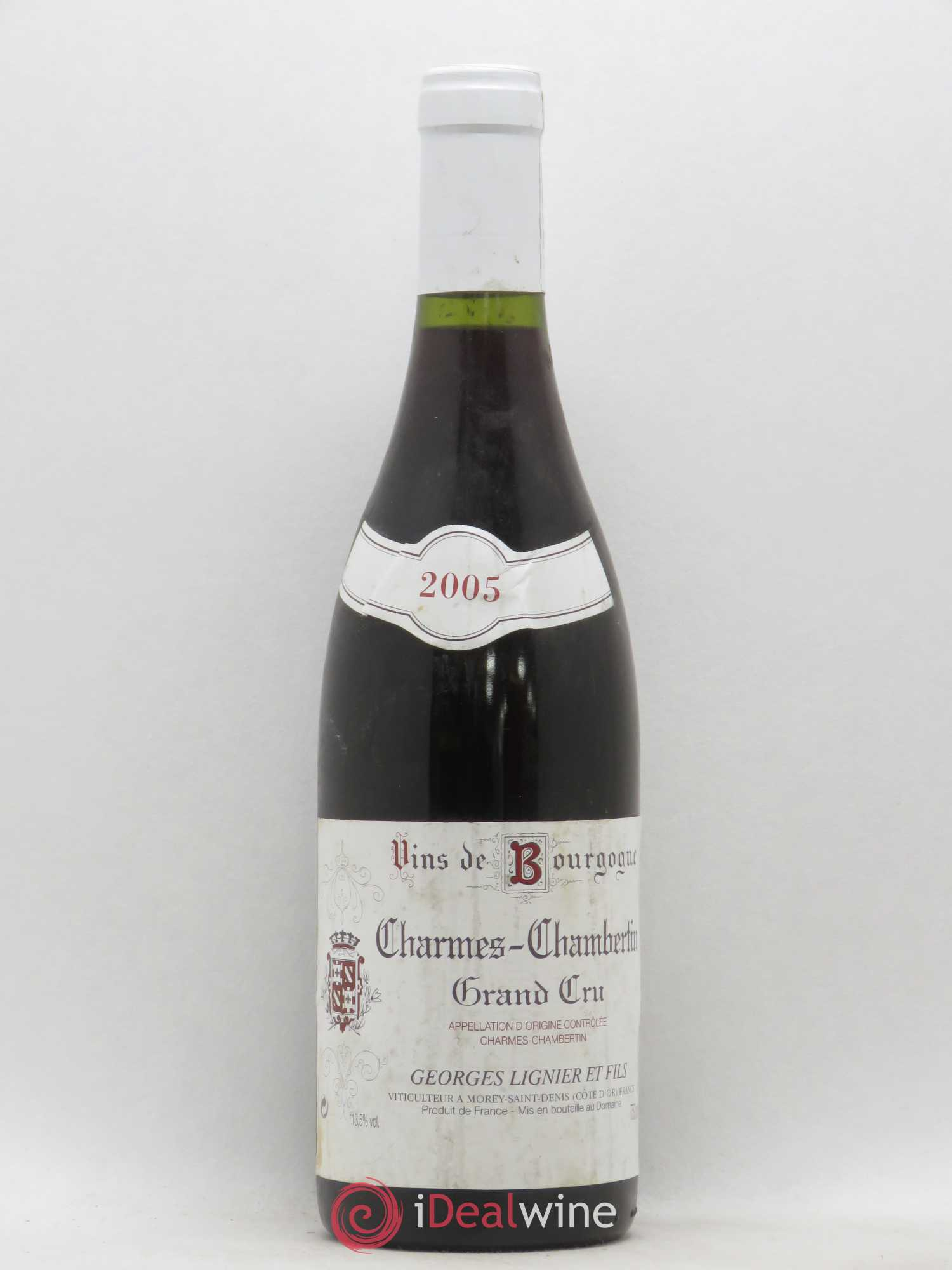 Charmes-Chambertin Grand Cru Georges Lignier 2005 - Lot of 1 Bottle