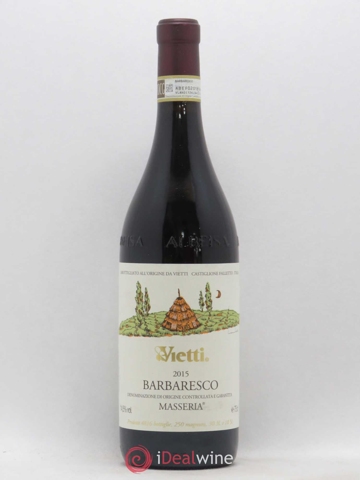 Barbaresco Masseria Vietti  2015 - Lot de 1 Bouteille