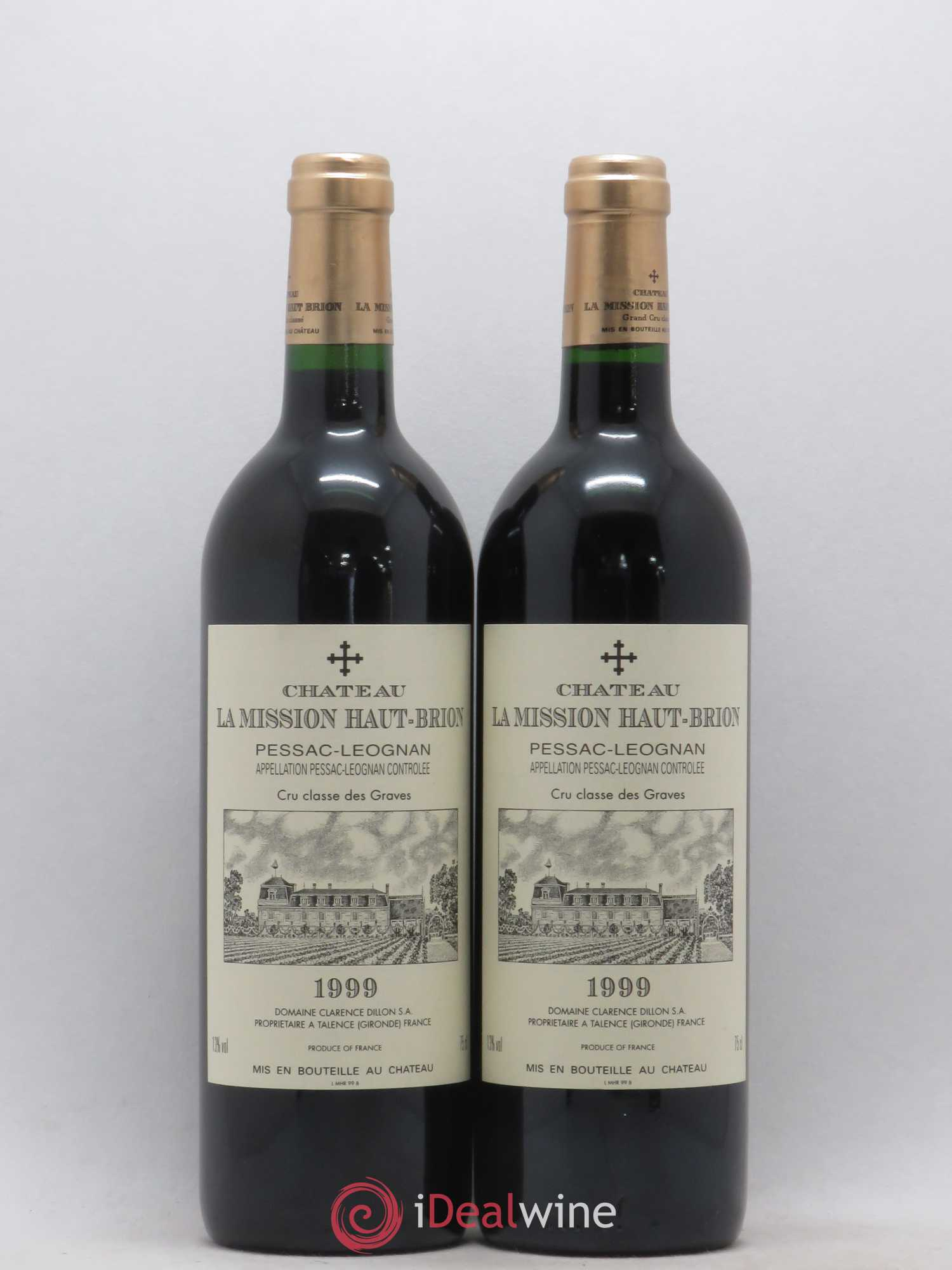 Château La Mission Haut-Brion Cru Classé de Graves  1999 - Lot of 2 Bottles