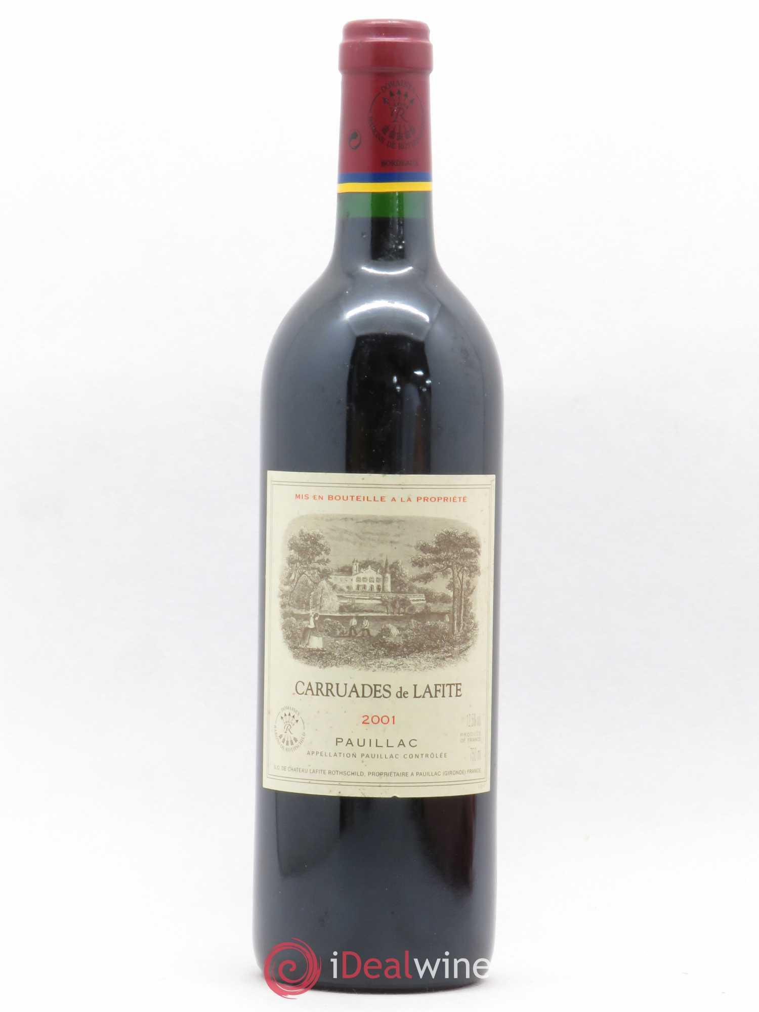 Carruades de Lafite Rothschild Second vin  2001 - Lot de 1 Bouteille
