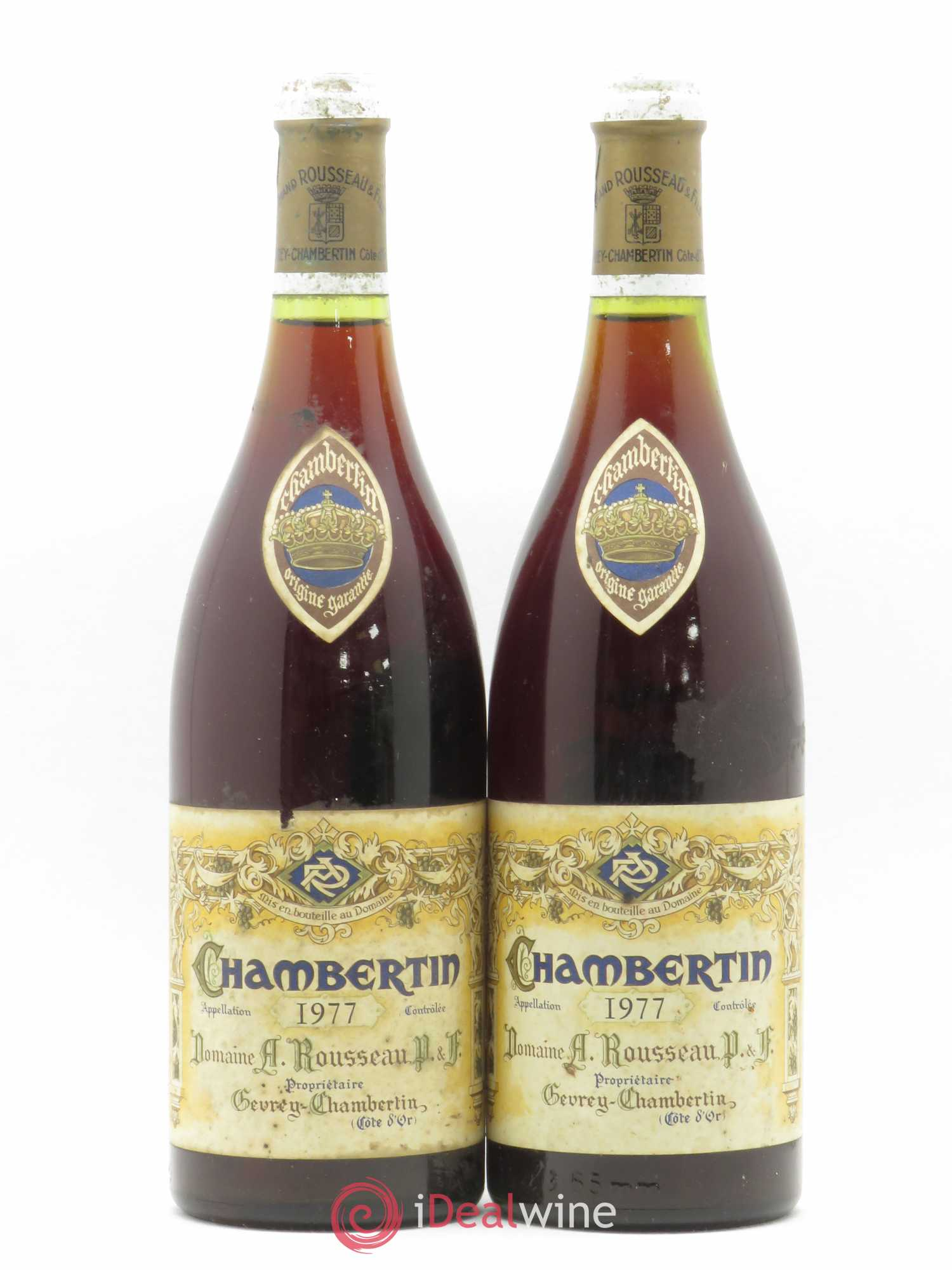 Chambertin Grand Cru Armand Rousseau (Domaine)  1977 - Lot of 2 Bottles
