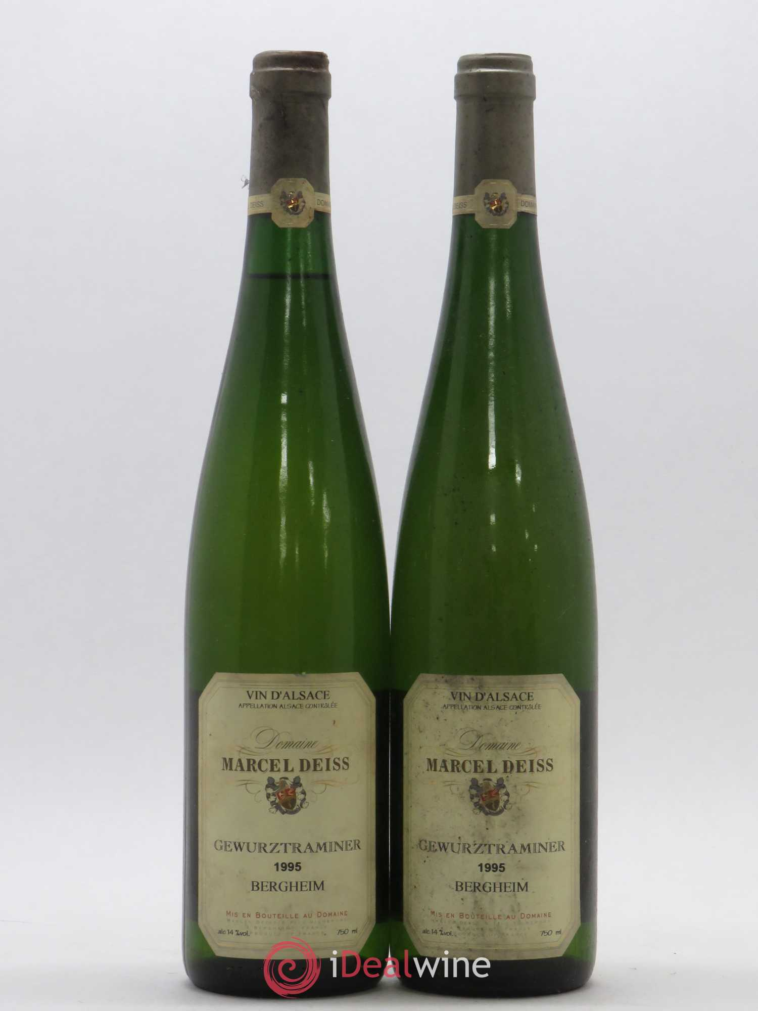 Gewurztraminer Marcel Deiss (Domaine) Bergheim 1995 - Lot of 2 Bottles