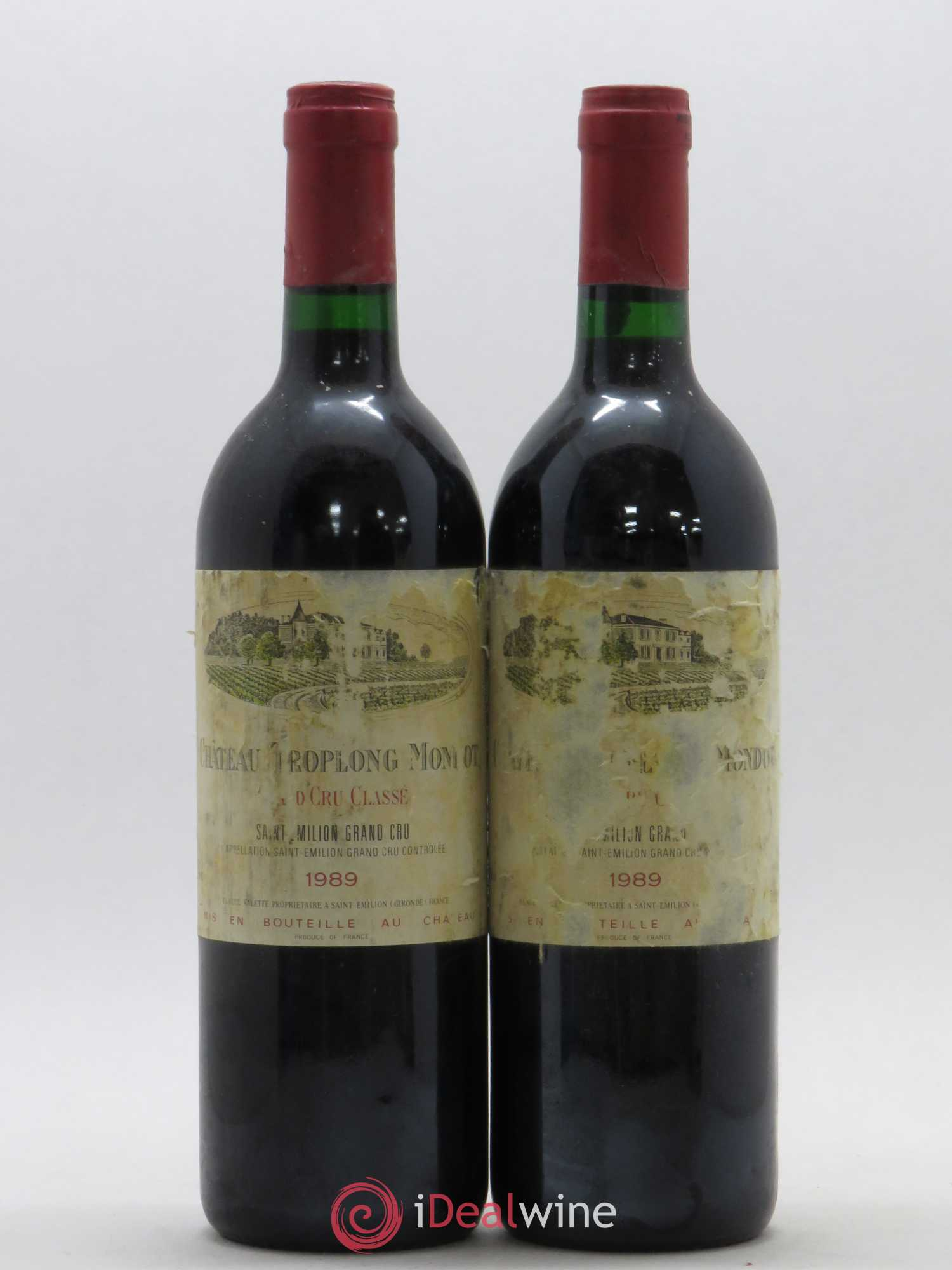 Château Troplong Mondot 1er Grand Cru Classé B  1989 - Lot of 2 Bottles