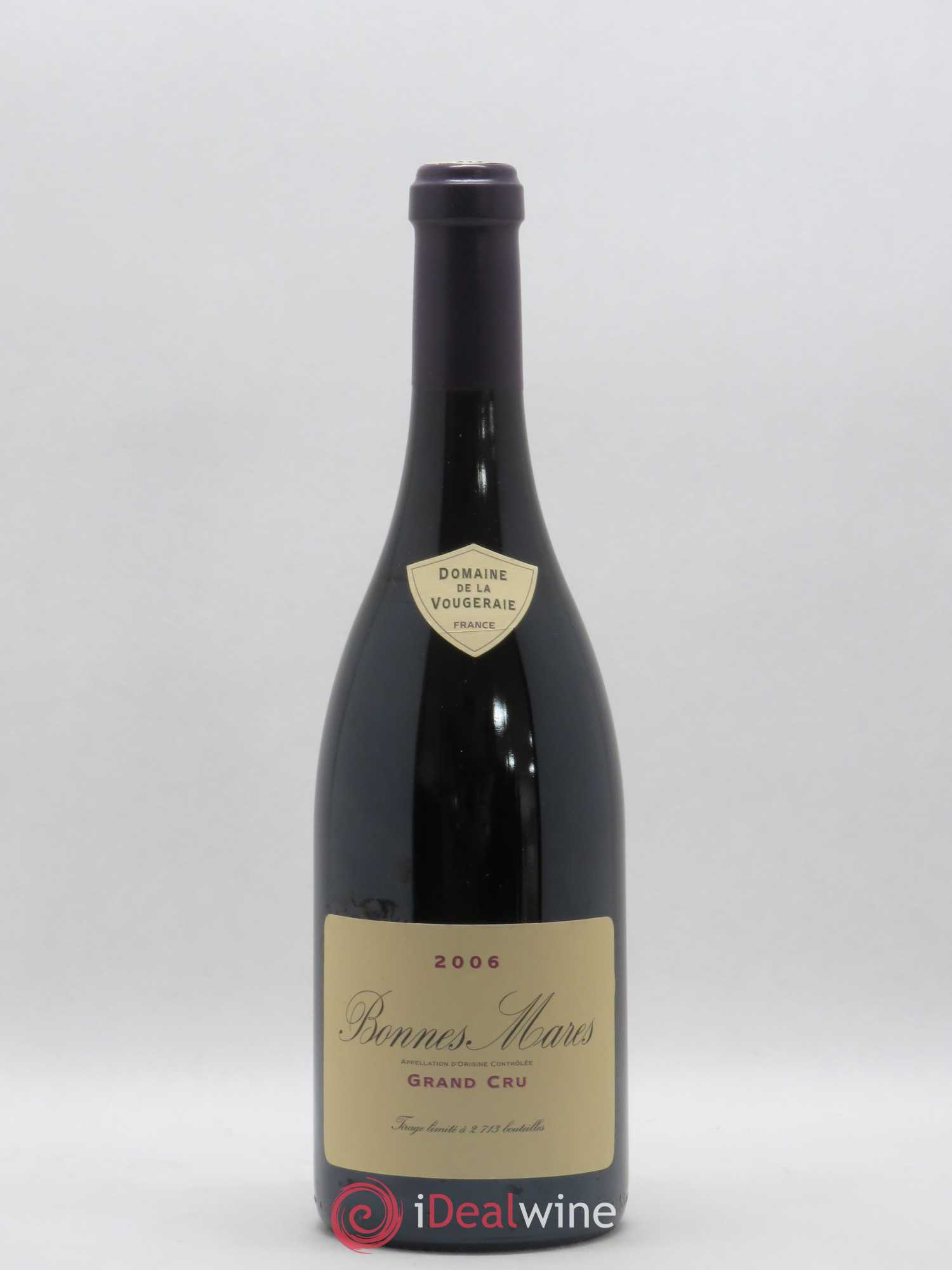 Bonnes-Mares Grand Cru La Vougeraie  2006 - Lot of 1 Bottle